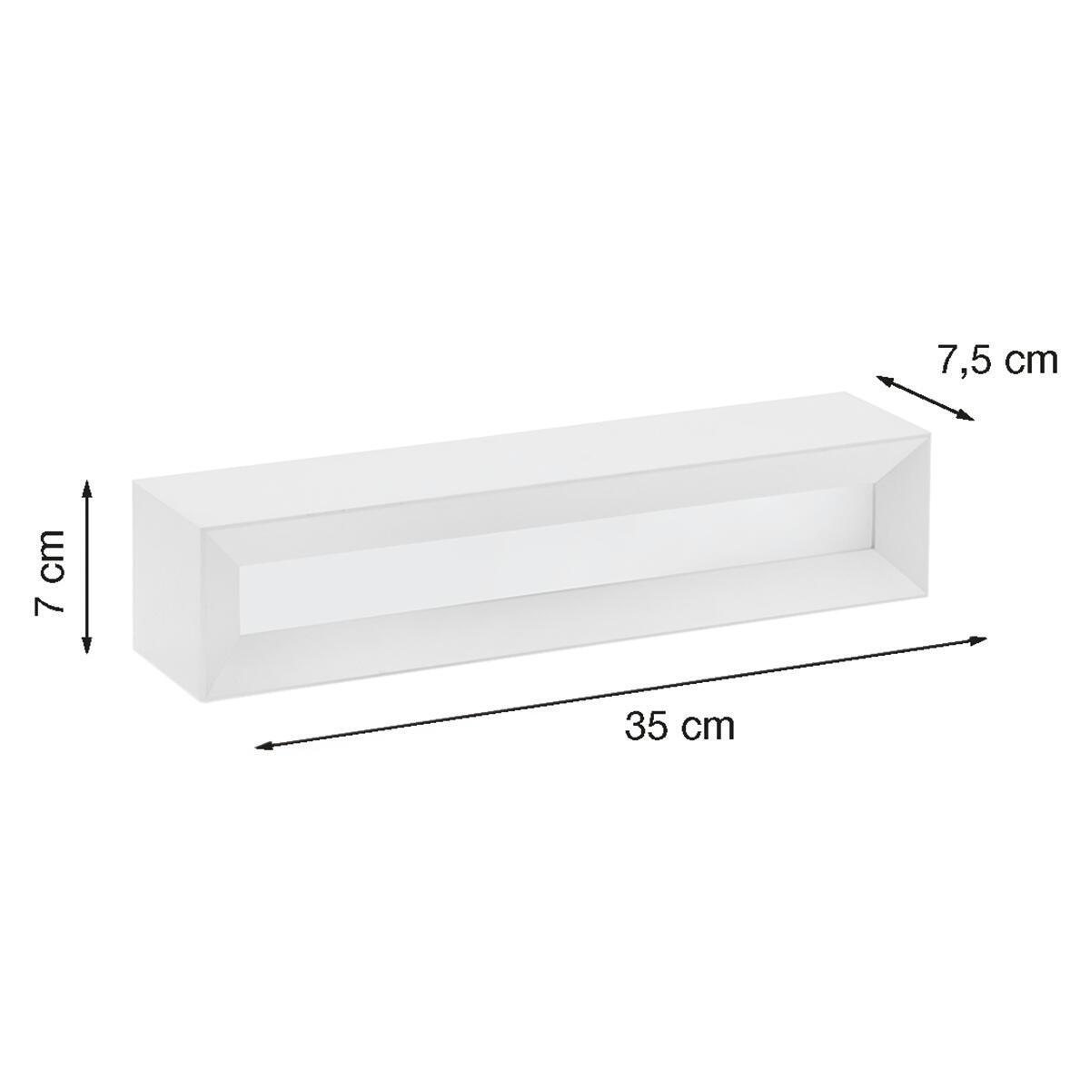 Applique design Hermione bianco, in gesso, 7x35 cm, 2 luci TECNICO - 5