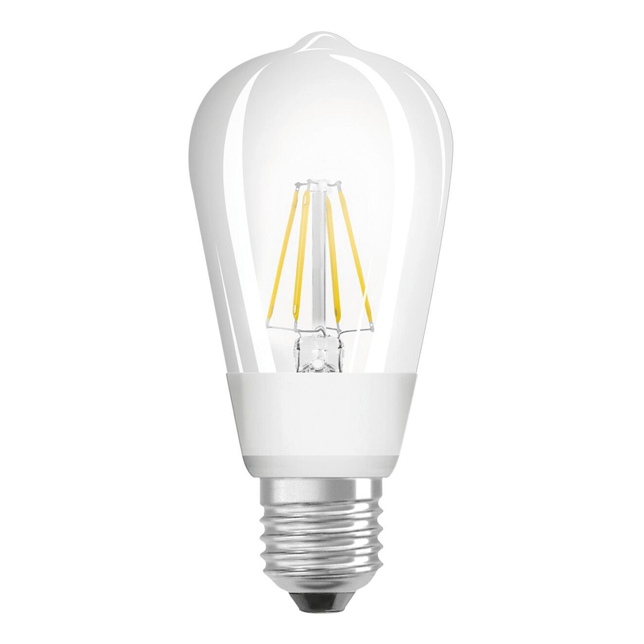 Lampadina LED, E27, Goccia, Trasparente, Luce calda, 7W=806LM (equiv 60 W), 300° , OSRAM - 1