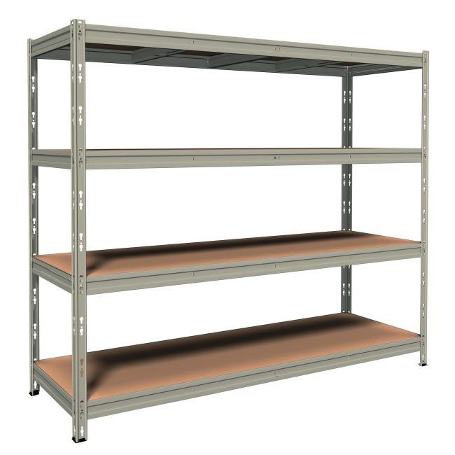 Scaffale in metallo in kit Anemos L 210 x P 70 x H 180 cm grigio - 1