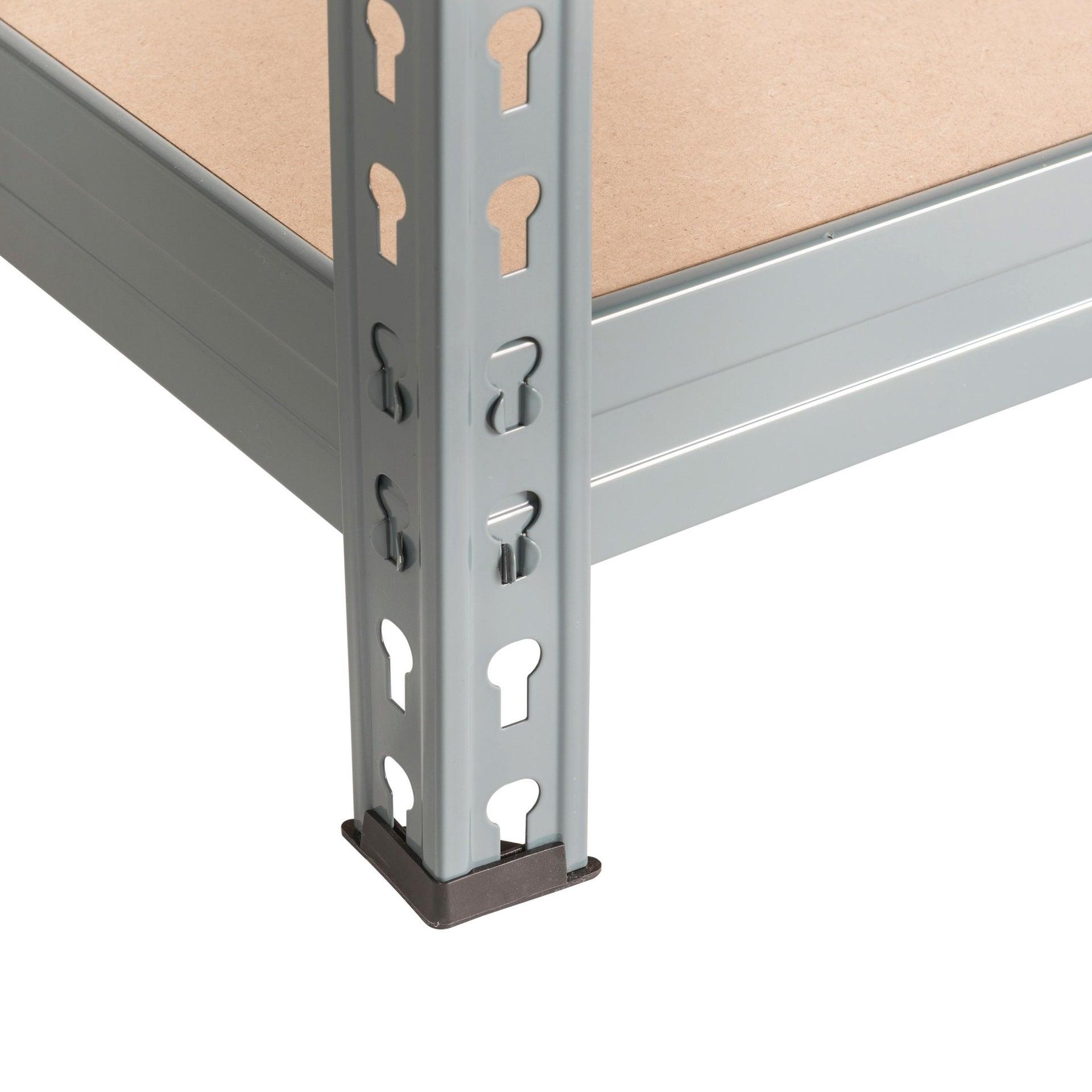Scaffale in metallo in kit Spaceo L 150 x P 60 x H 190 cm grigio antracite - 5