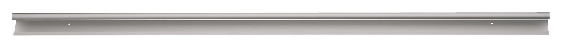 Reggimensola a binario in alluminio H 3.5 cm grigio / argento - 2