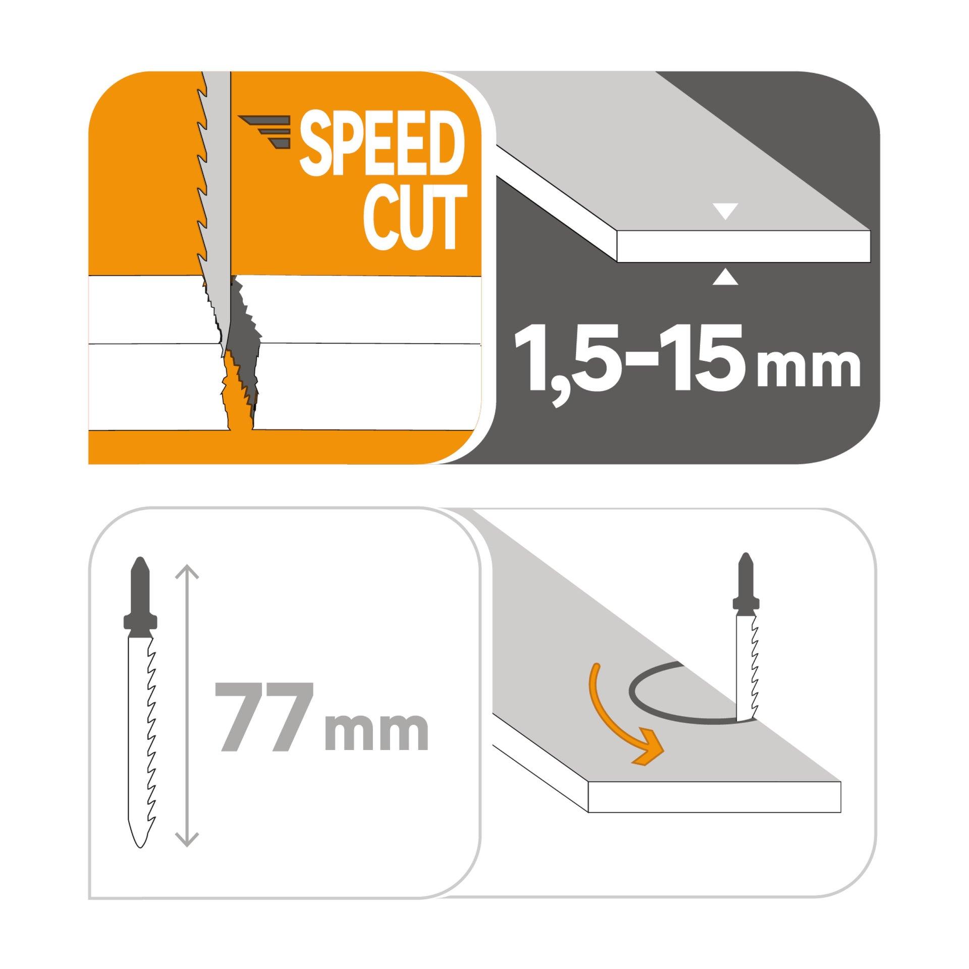 Set lame per seghetto alternativo DEXTER in hcs L 76.7 mm 2 pezzi - 6