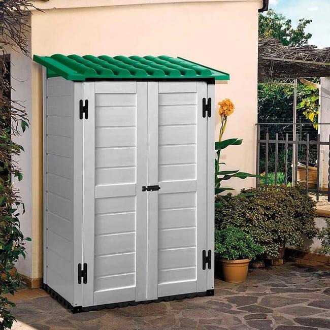 Casetta da giardino in pvc Tuscany, superficie interna 1.01 m² e spessore parete 20 mm - 1