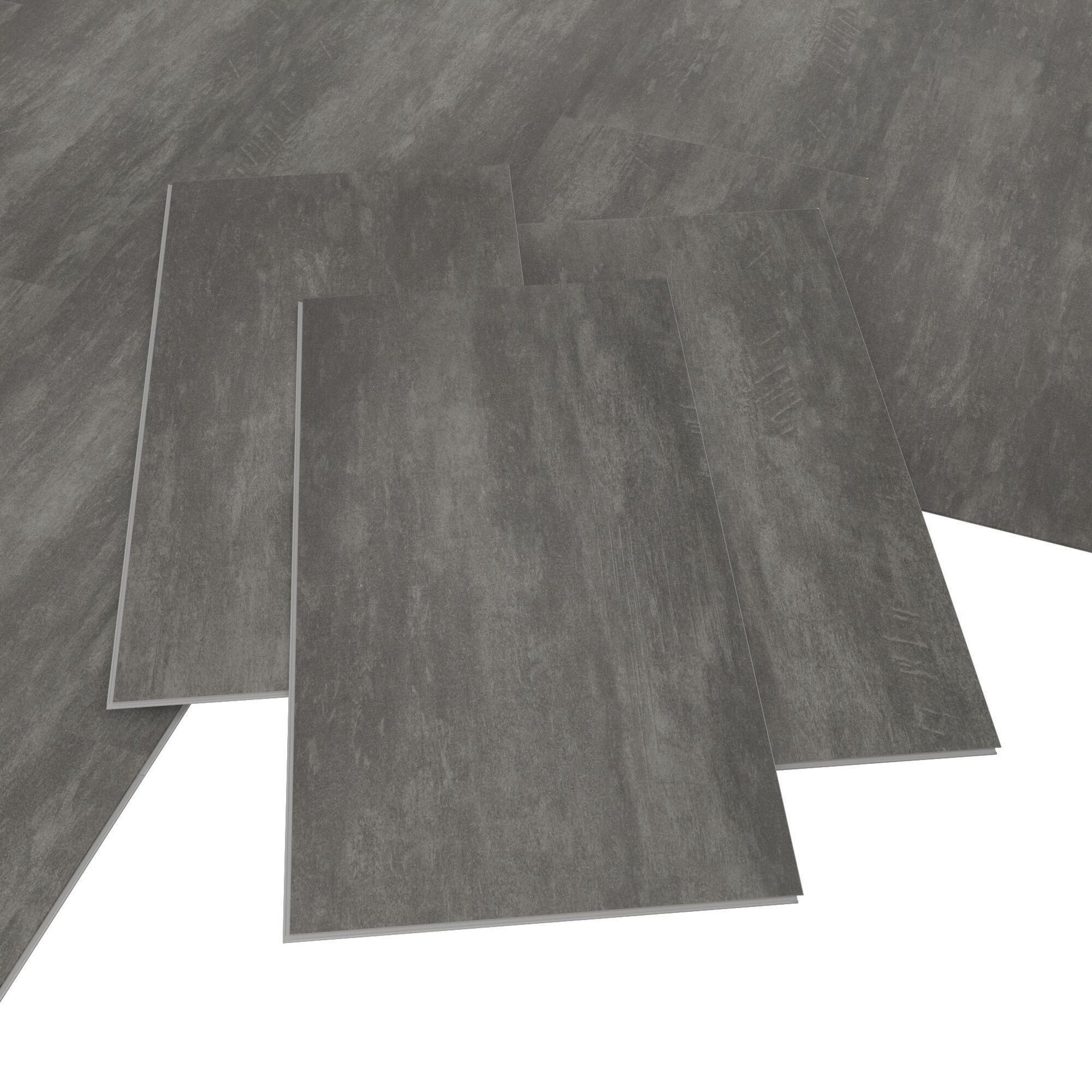 Pavimento PVC incastro Tolu Sp 4 mm grigio / argento - 4
