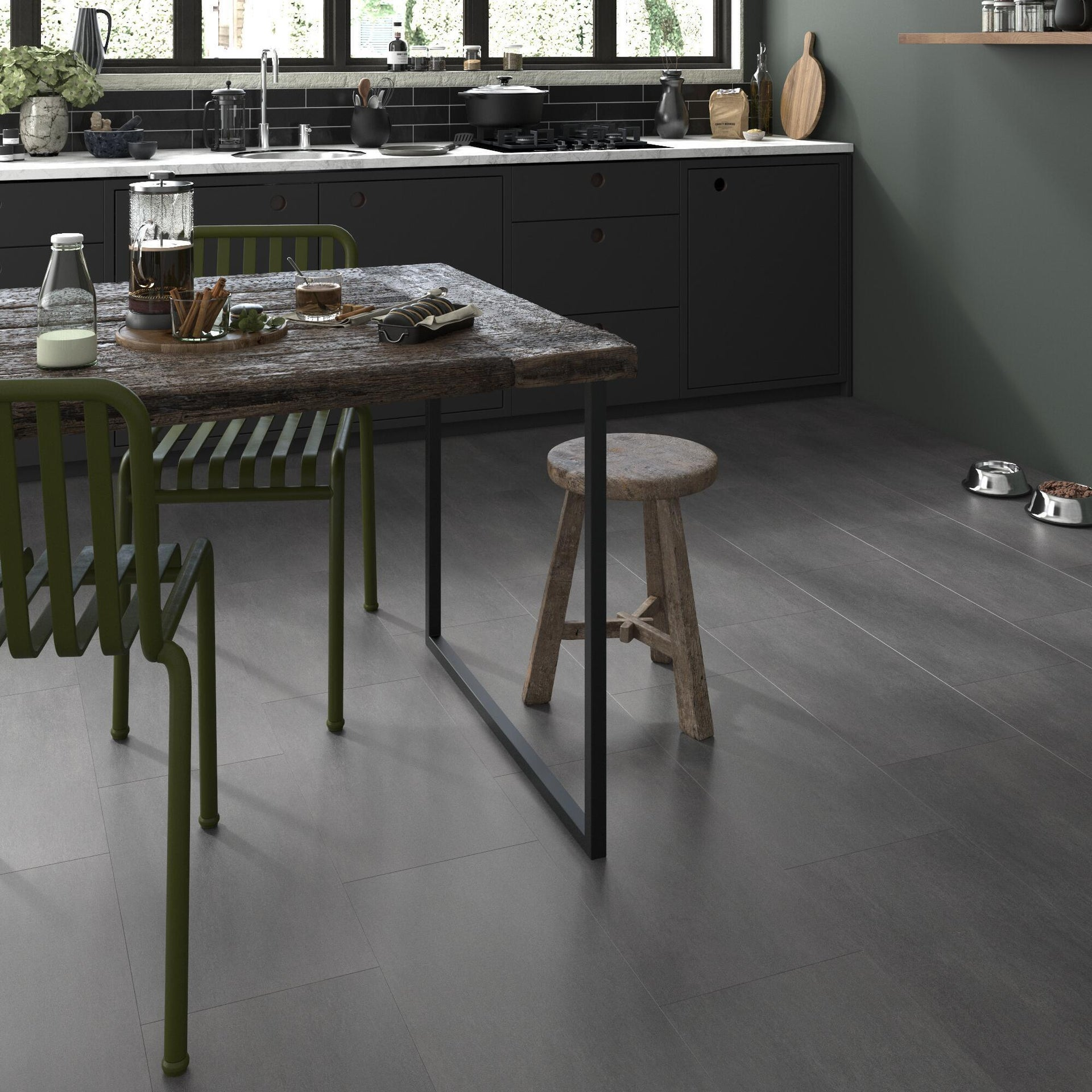 Pavimento PVC flottante clic+ Art For New Sp 4.2 mm nero - 5
