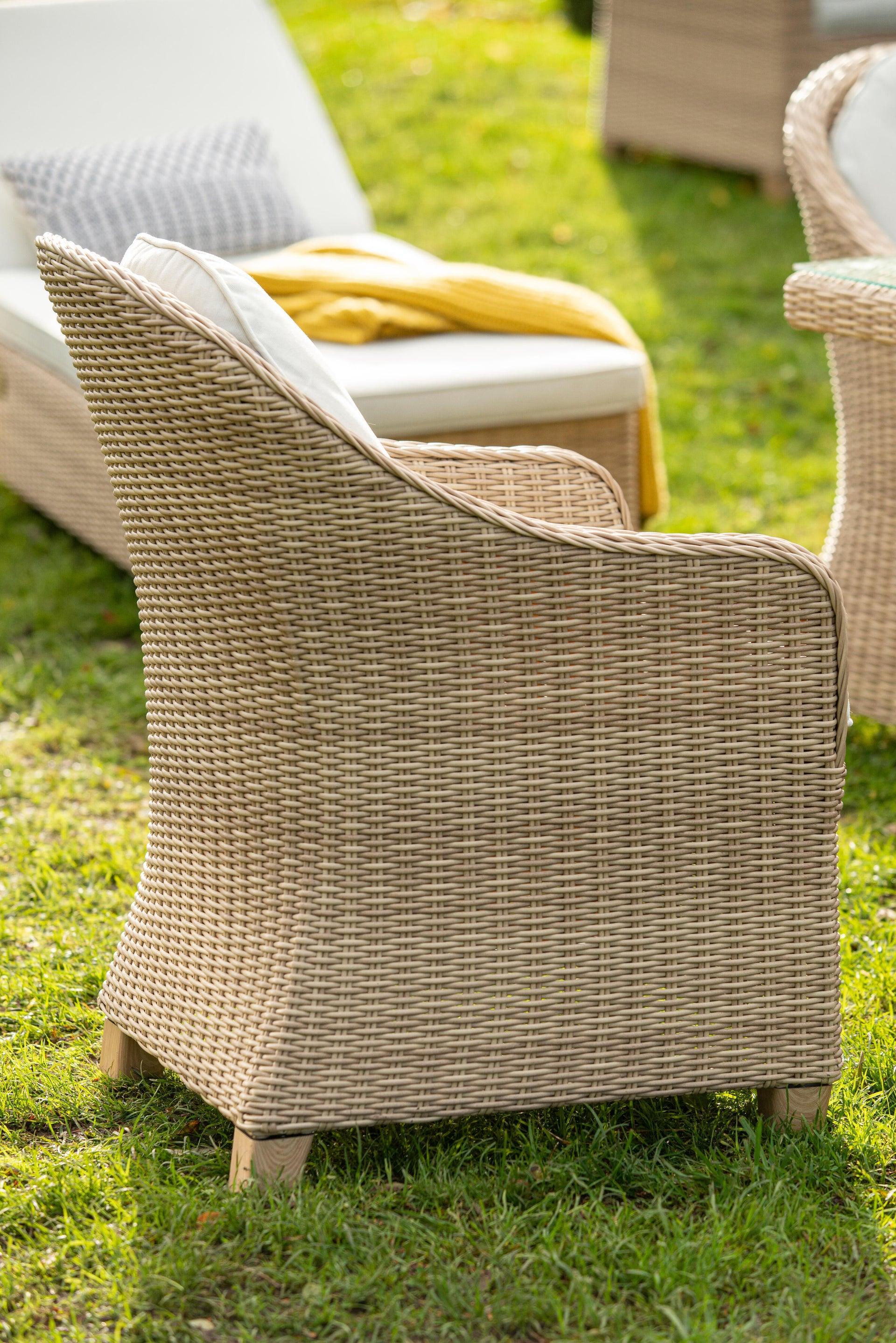 Poltrona da giardino con cuscino in alluminio Medena NATERIAL colore naturale - 3
