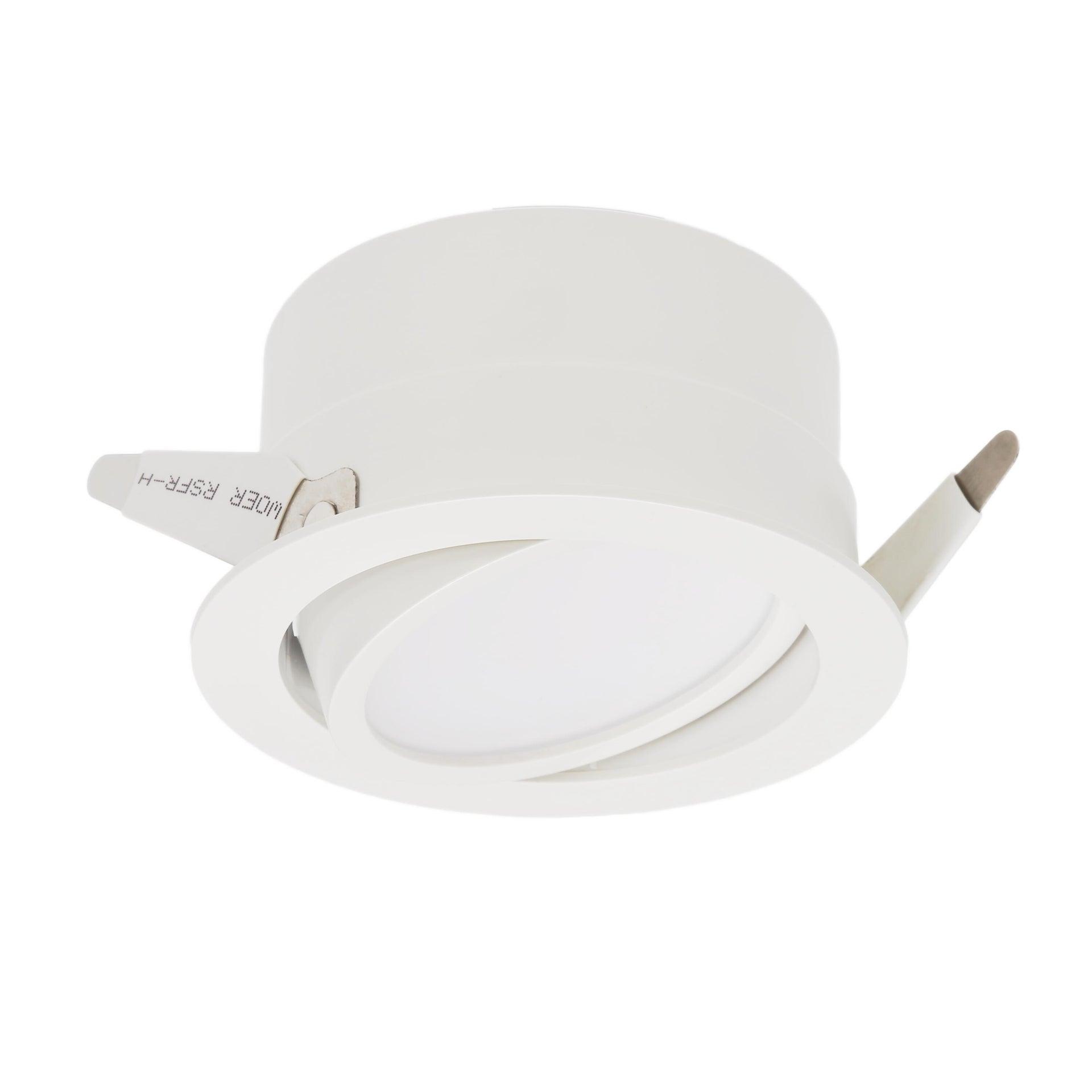 Faretto orientabile da incasso tondo Ori Lindi bianco, diam. 9 cm LED integrato 6.3W 550LM IP65 INSPIRE - 4