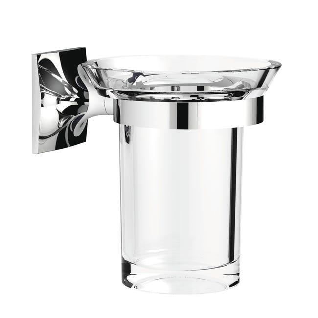 Bicchiere porta spazzolini Wizard in acrilico trasparente - 1