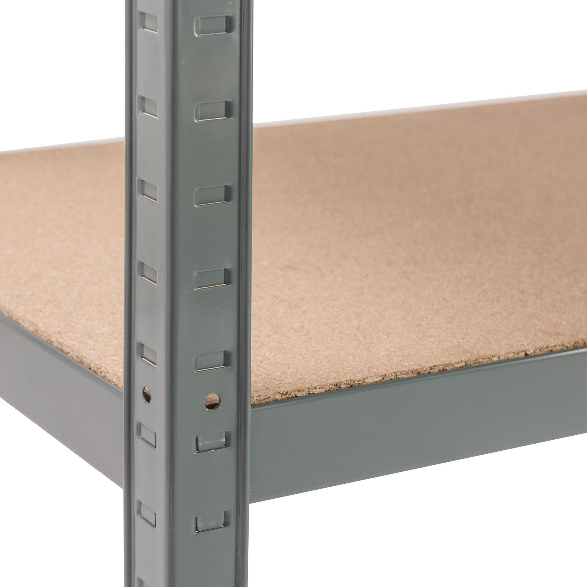Scaffale in metallo in kit Spaceo L 120 x P 50 x H 196 cm grigio antracite - 13