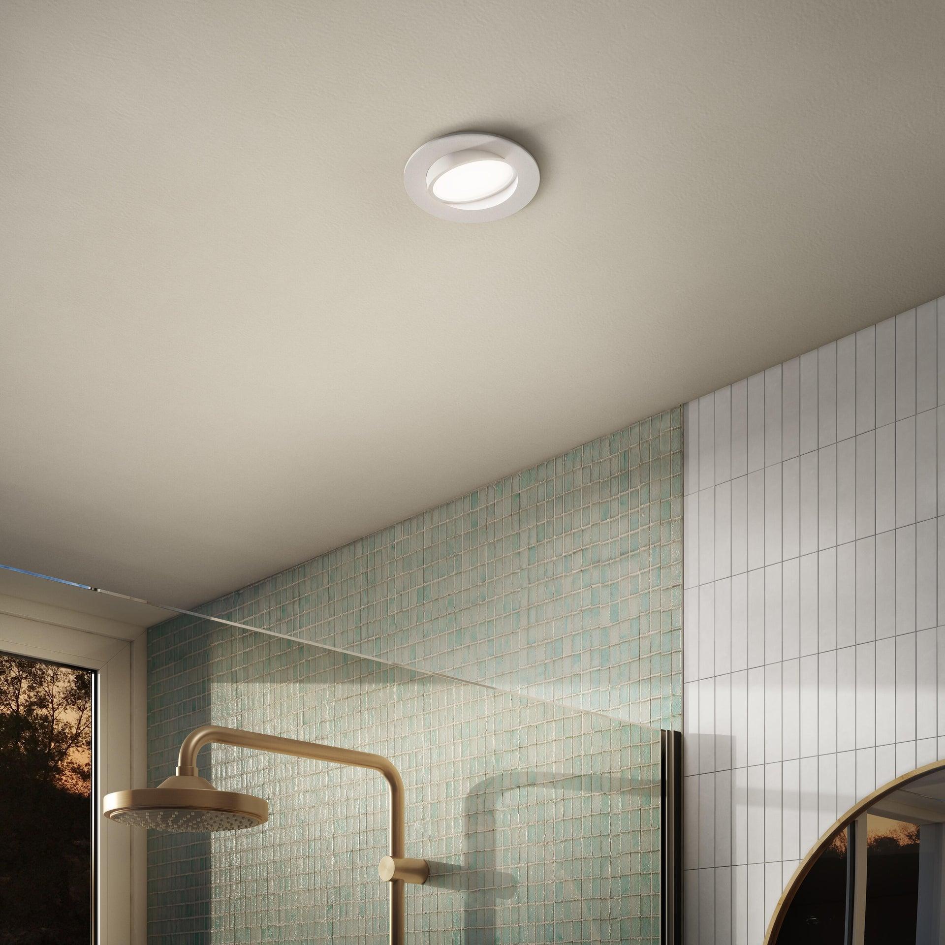 Faretto orientabile da incasso tondo Ori Lindi bianco, diam. 9 cm LED integrato 6.3W 550LM IP65 INSPIRE - 5