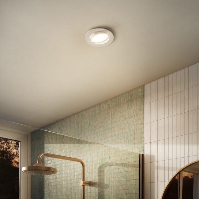 Faretto orientabile da incasso tondo Ori Lindi bianco, diam. 9 cm LED integrato 6.3W 550LM IP65 INSPIRE - 1