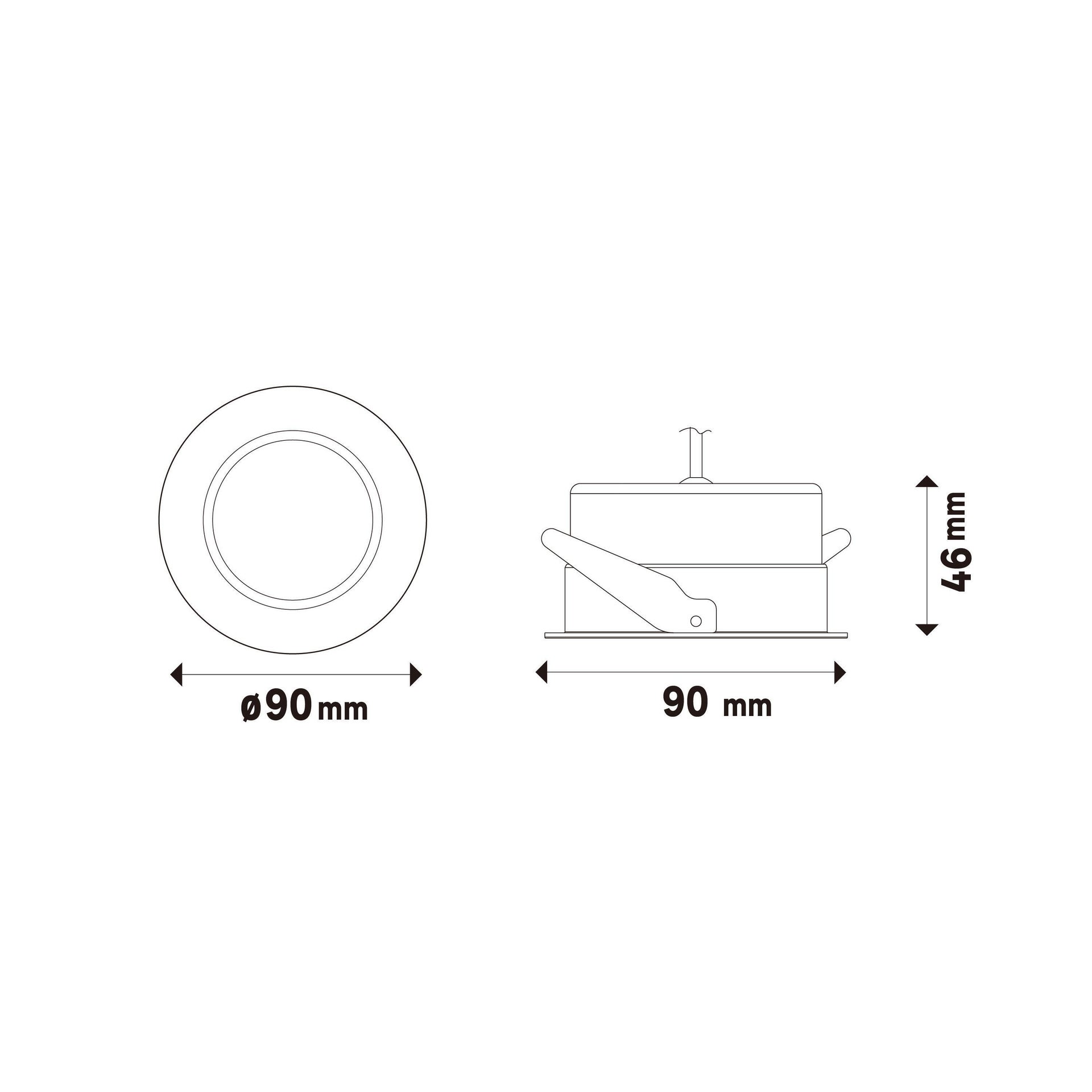 Faretto orientabile da incasso tondo Ori Lindi bianco, diam. 9 cm LED integrato 6.3W 550LM IP65 INSPIRE - 13