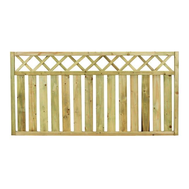 Recinzione Recinzione Stisa in legno L 180 x H 90 x P 4.5 cm - 1