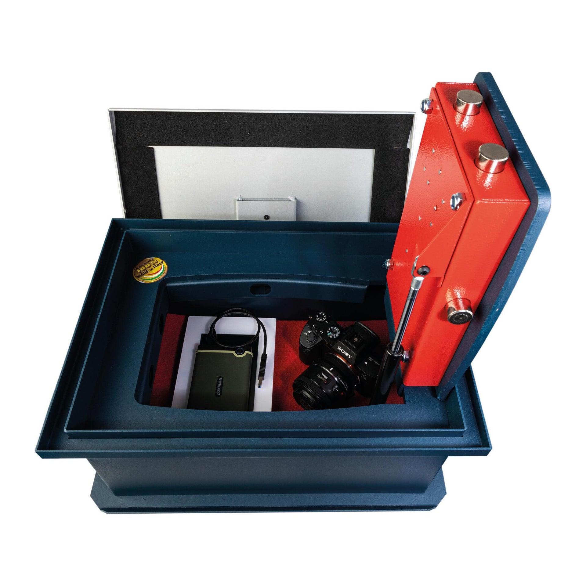 Cassaforte a chiave TECHNOMAX da fissare a parete L44 x P32 x H21 cm - 4