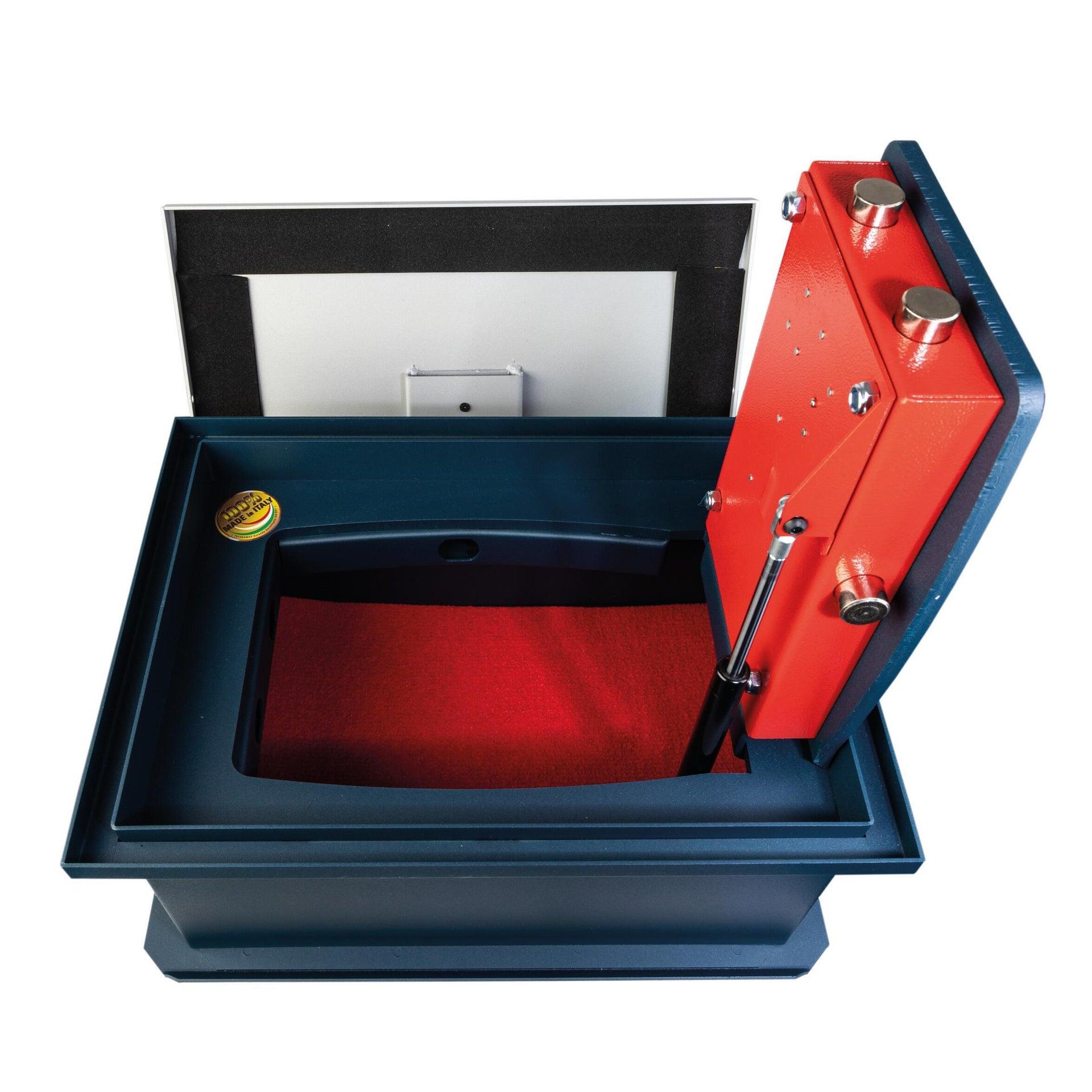 Cassaforte a chiave TECHNOMAX da fissare a parete L44 x P32 x H21 cm - 1