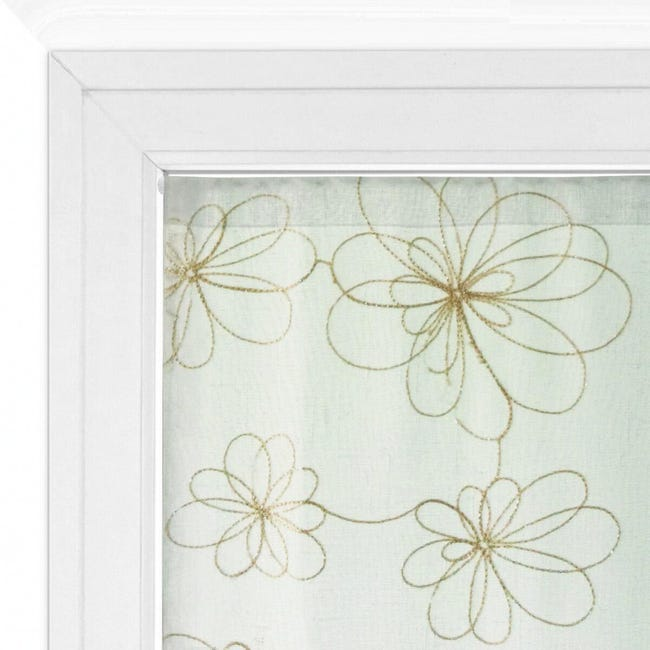 Tendina vetro Caterina oro tunnel 60 x 240 cm - 1