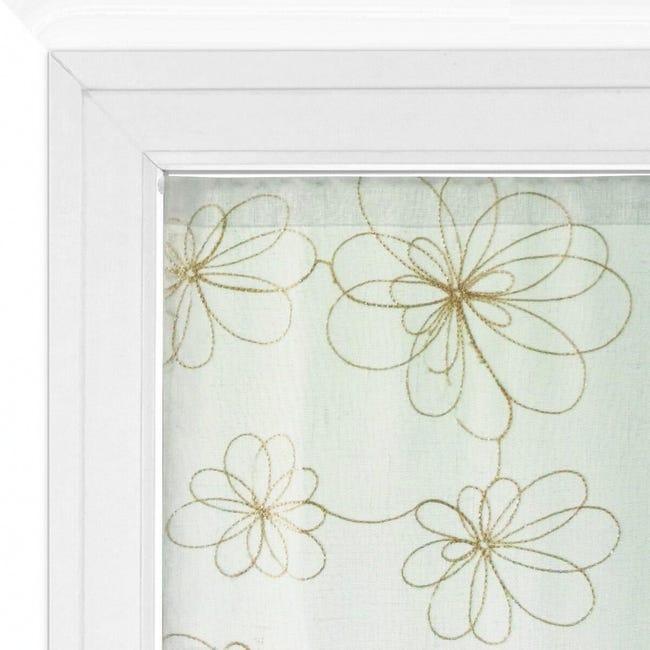 Tendina vetro Caterina oro tunnel 60 x 150 cm - 1