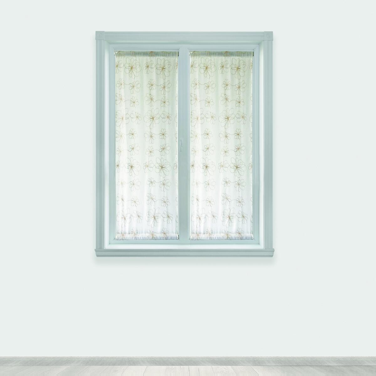 Tendina vetro Caterina oro tunnel 60 x 150 cm - 2
