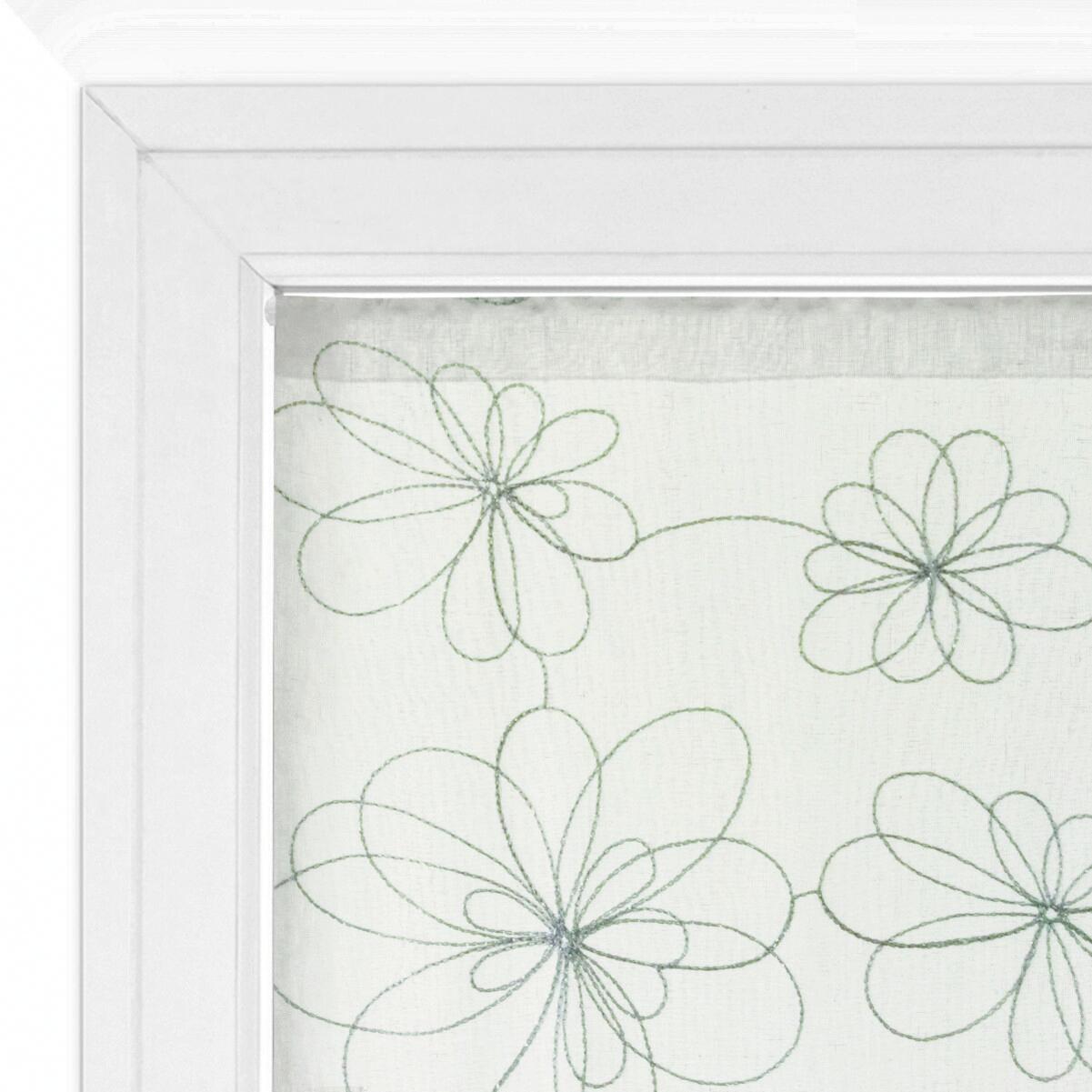 Tendina vetro Caterina argento tunnel 60 x 240 cm - 1