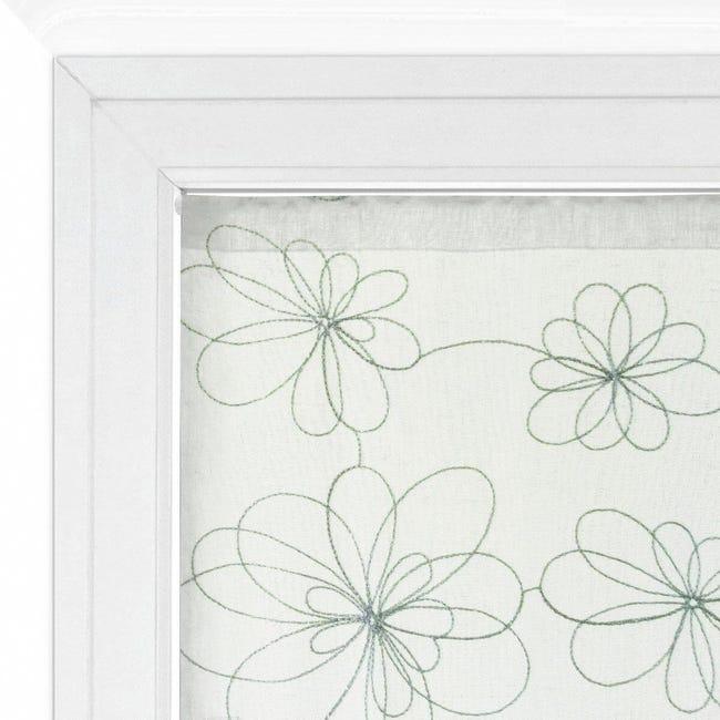 Tendina vetro Caterina argento tunnel 60 x 150 cm - 1