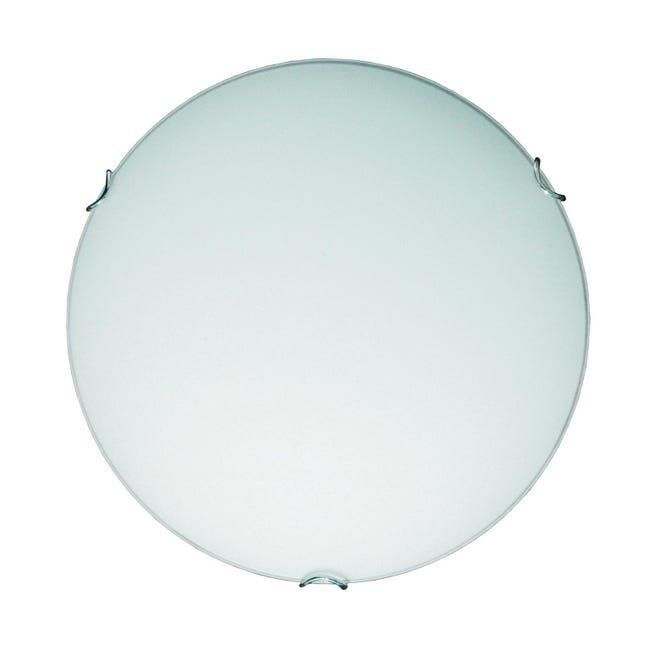 Plafoniera classico Ariel bianco, in vetro, D. 30 cm 30 cm, LUMICOM - 1