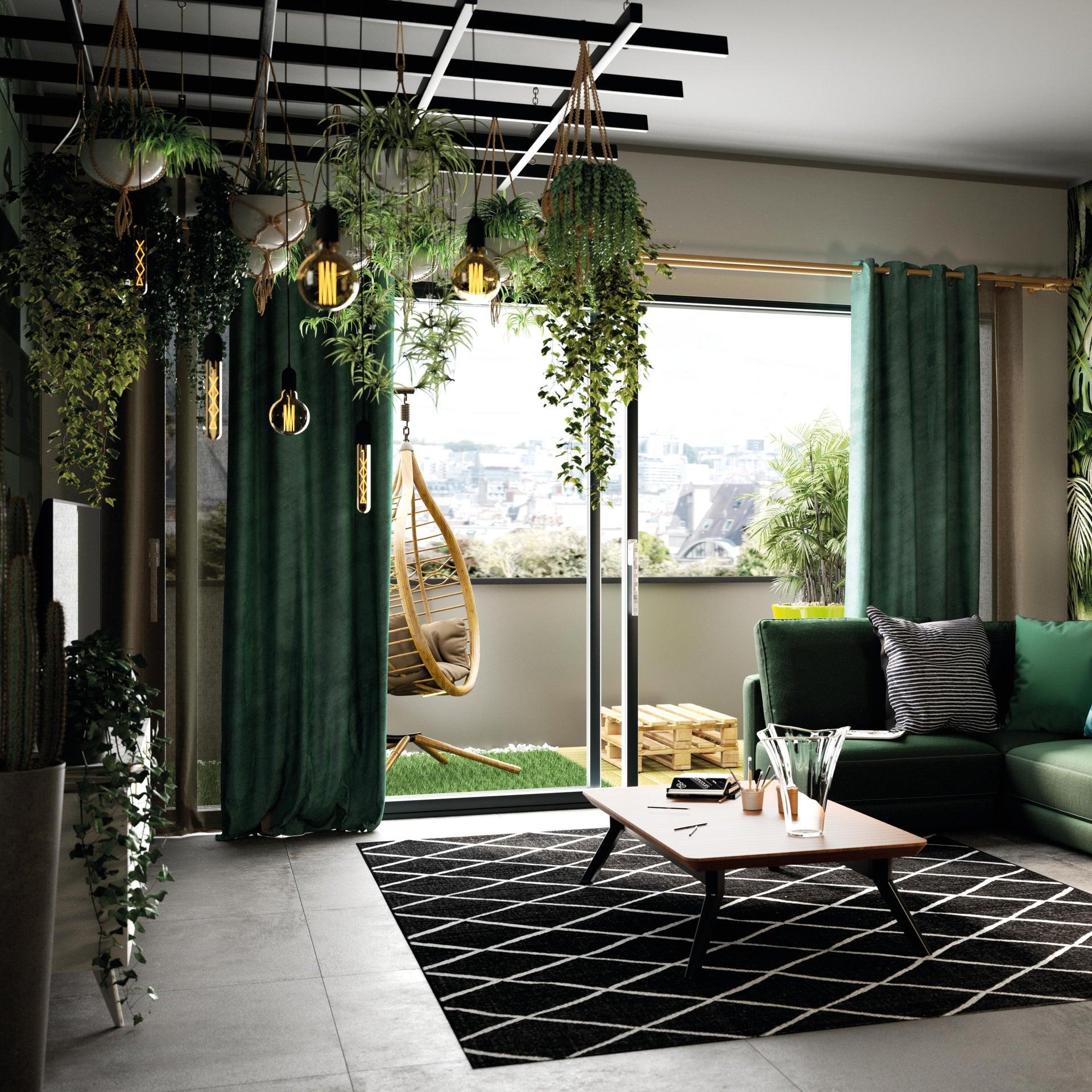Tenda INSPIRE New Manchester verde occhielli 140 x 280 cm - 3