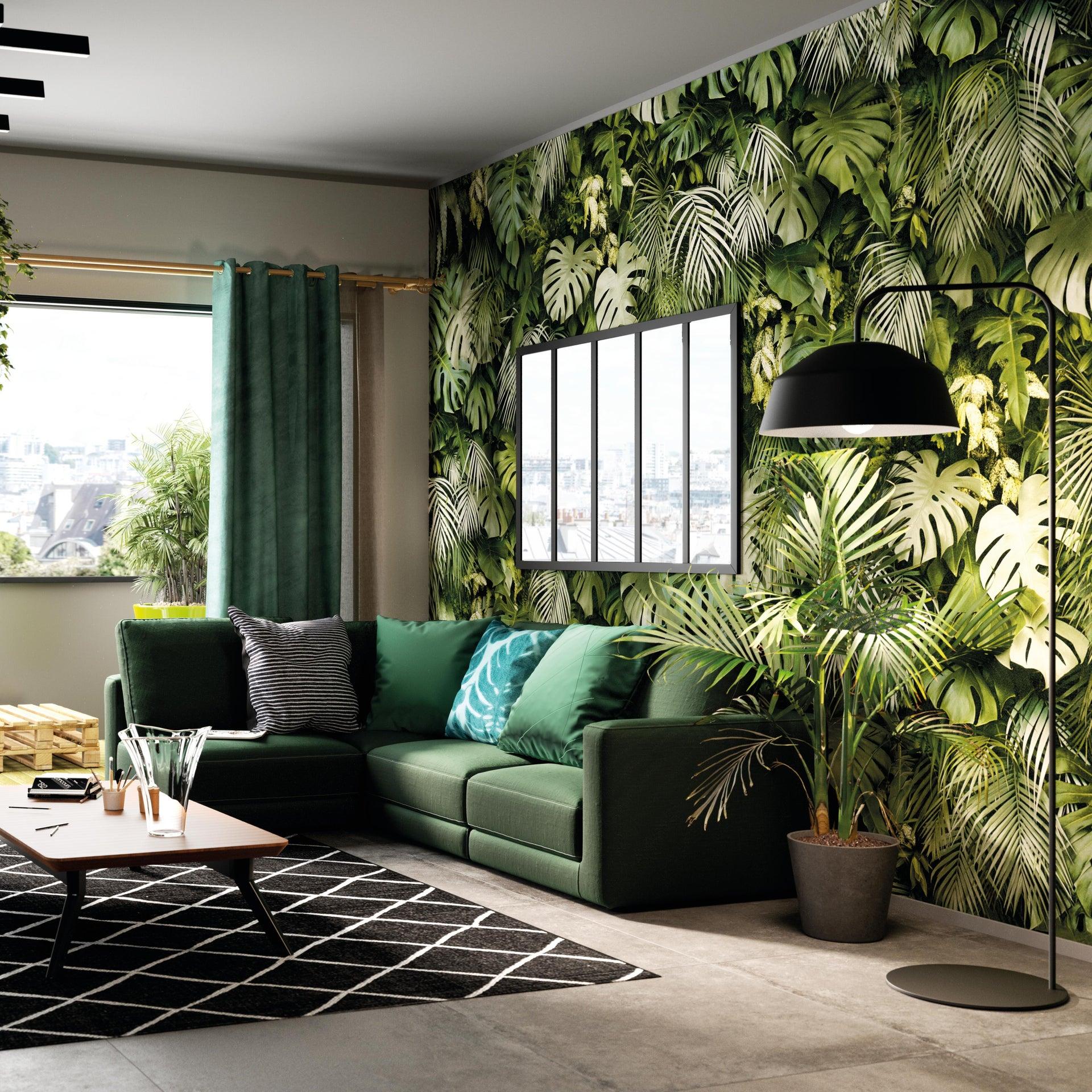 Tenda INSPIRE New Manchester verde occhielli 140 x 280 cm - 6