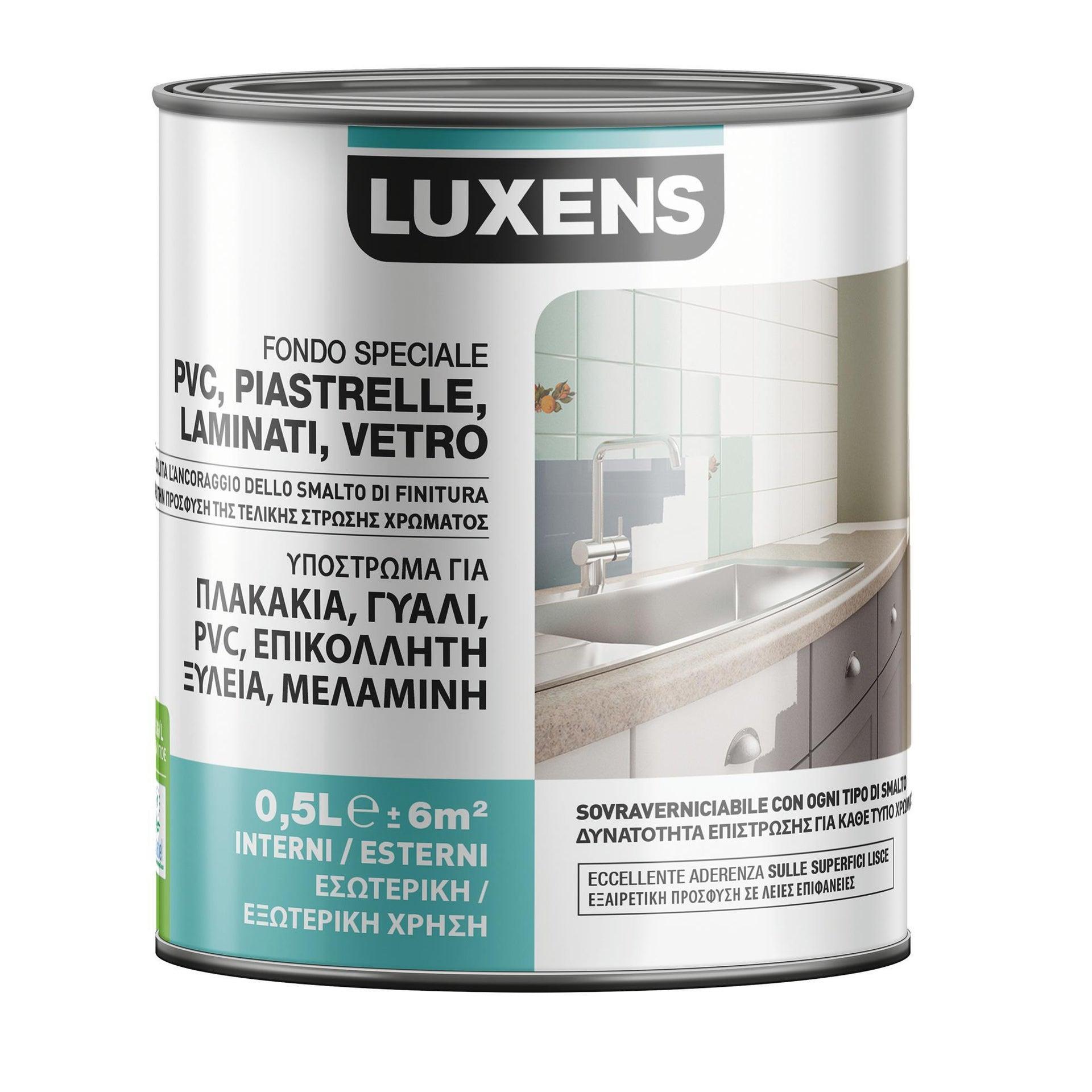 Primer precolorazione LUXENS base acqua interno / esterno per piastrelle, pvc, laminati, vetro 0.5 L - 1