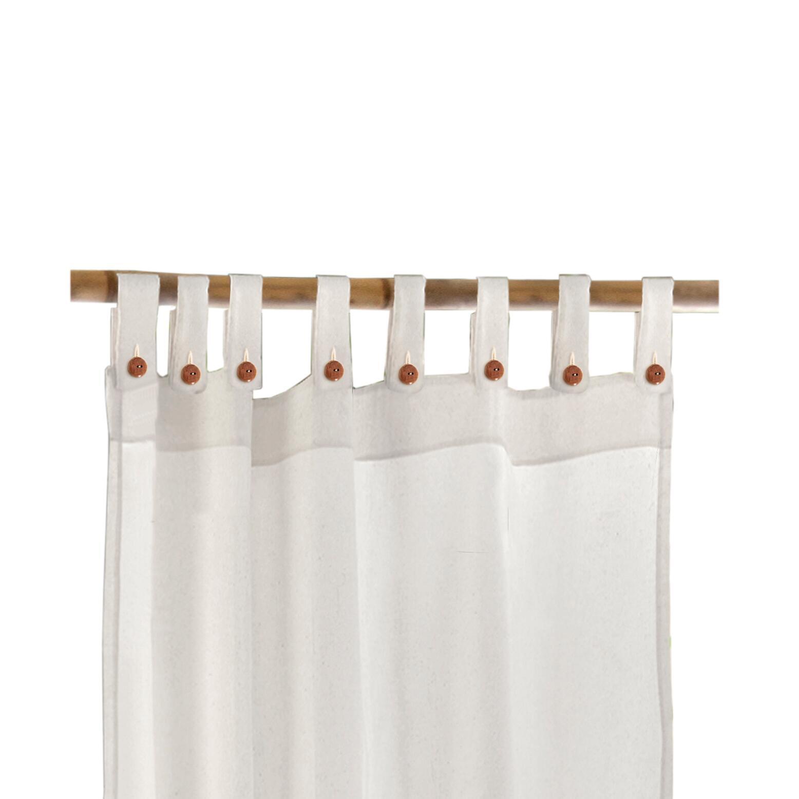Tenda Gazebo bianco con passanti 140 x 280 cm - 3