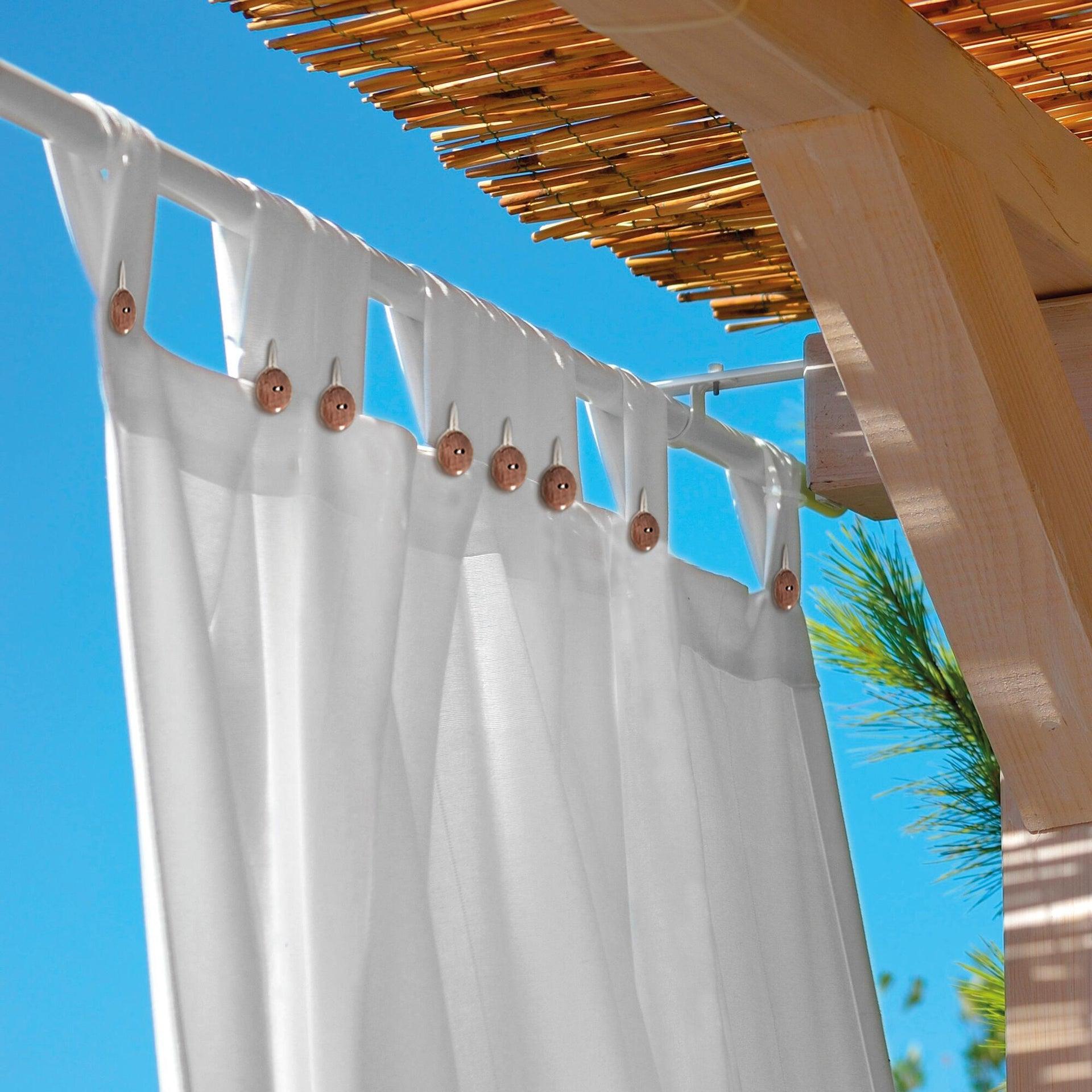 Tenda Gazebo bianco con passanti 140 x 280 cm - 2