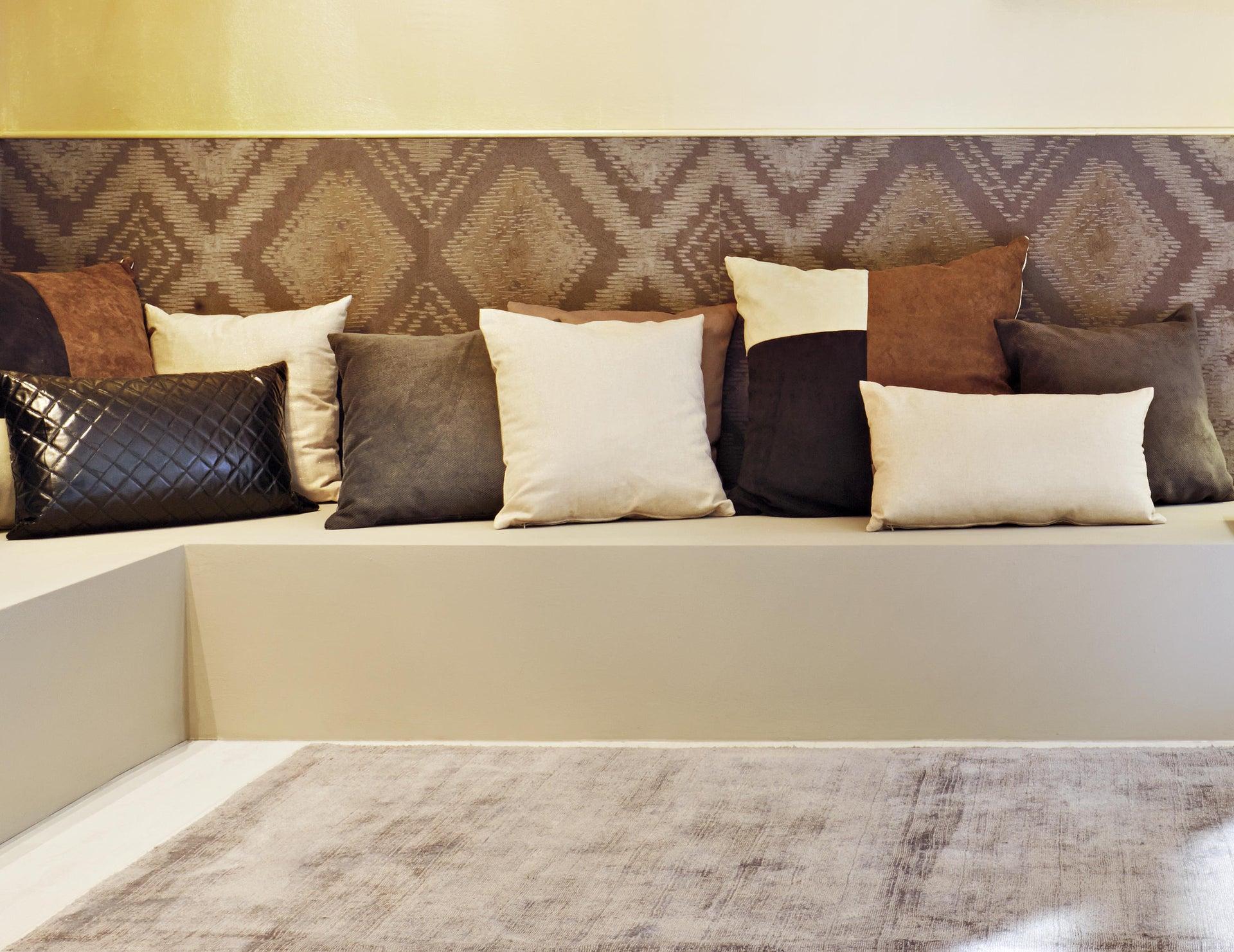 Cuscino Patchwork marrone 60x60 cm - 4