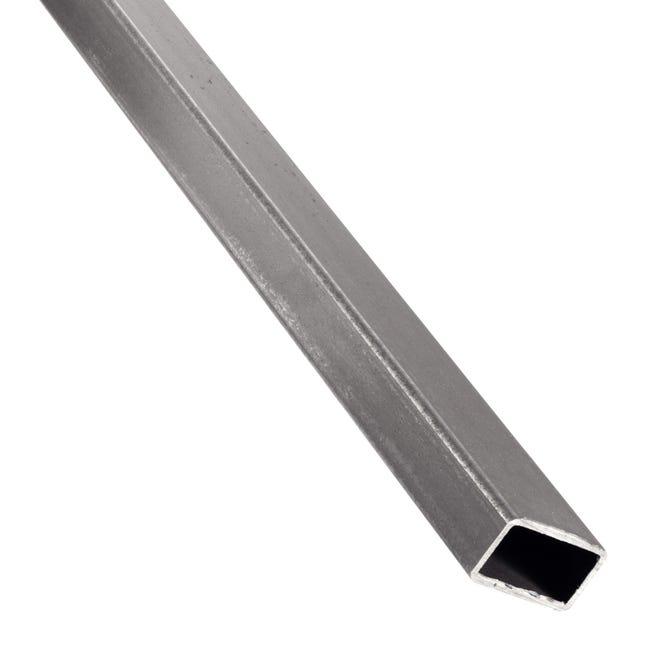 Profilo tubo rettangolare STANDERS in acciaio 1 m x 3 cm grigio - 1