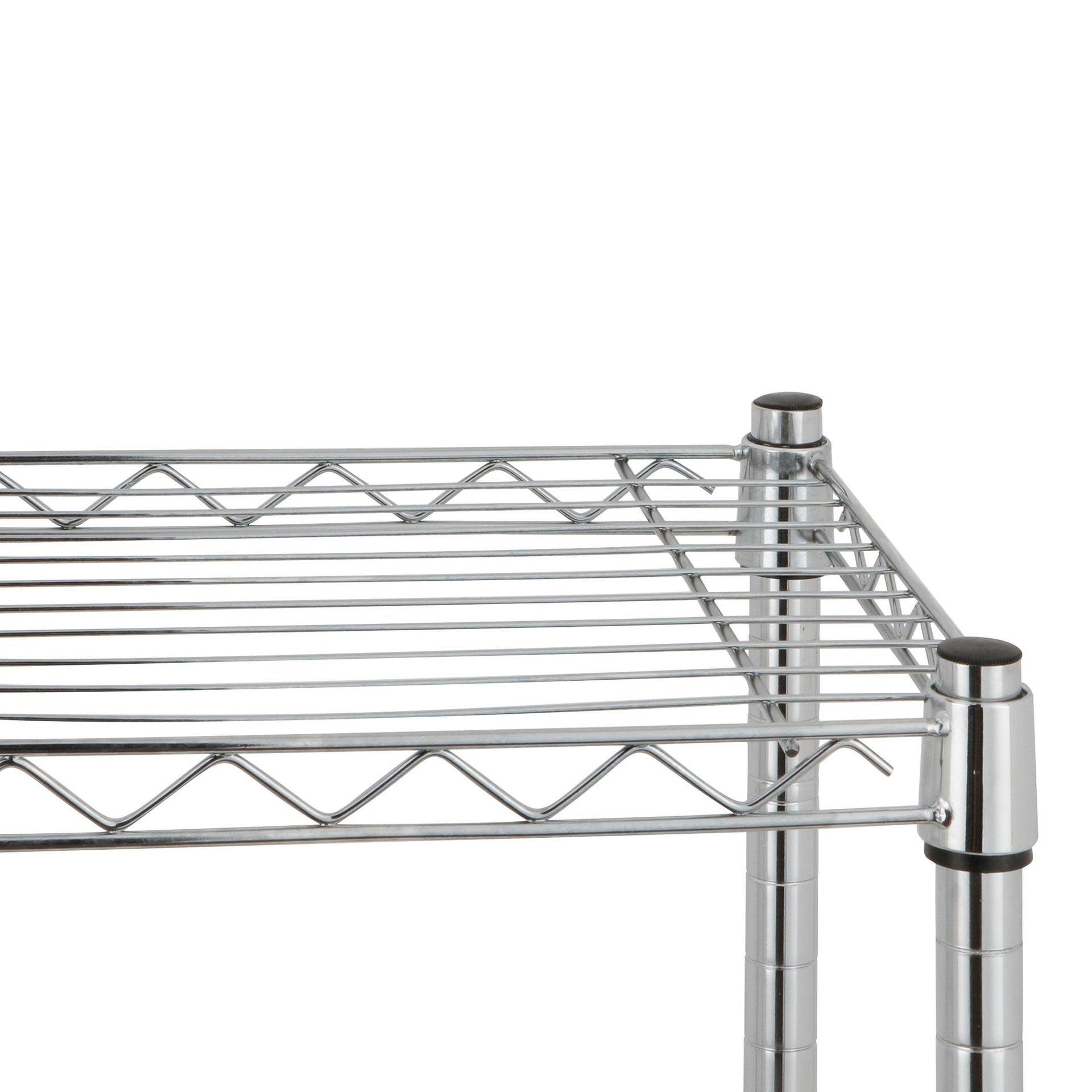 Scaffale in metallo Spaceo Chrome Style+ L 60 x P 35 x H 90 cm - 3