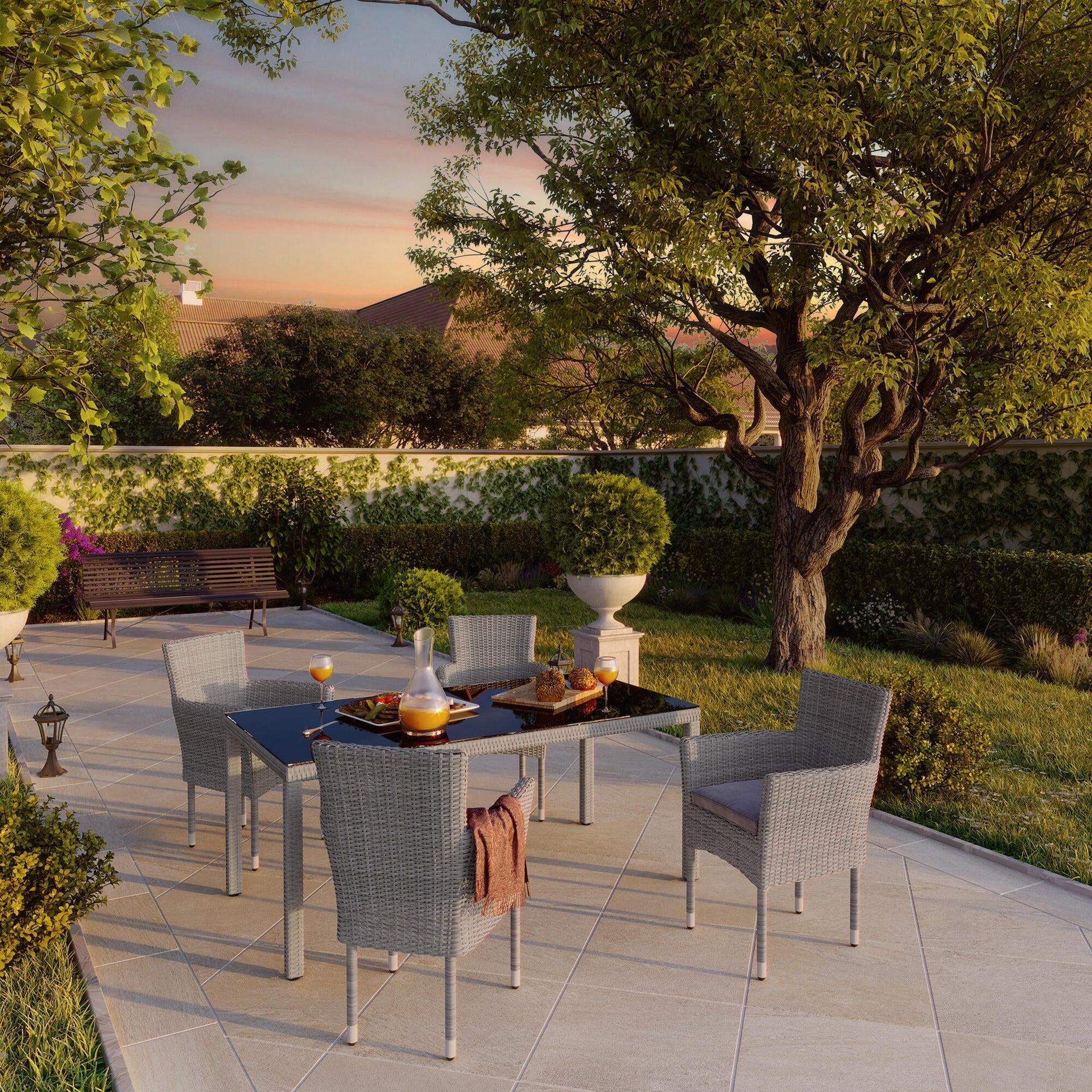 Poltrona da giardino con cuscino in alluminio Davos NATERIAL colore antracite - 7