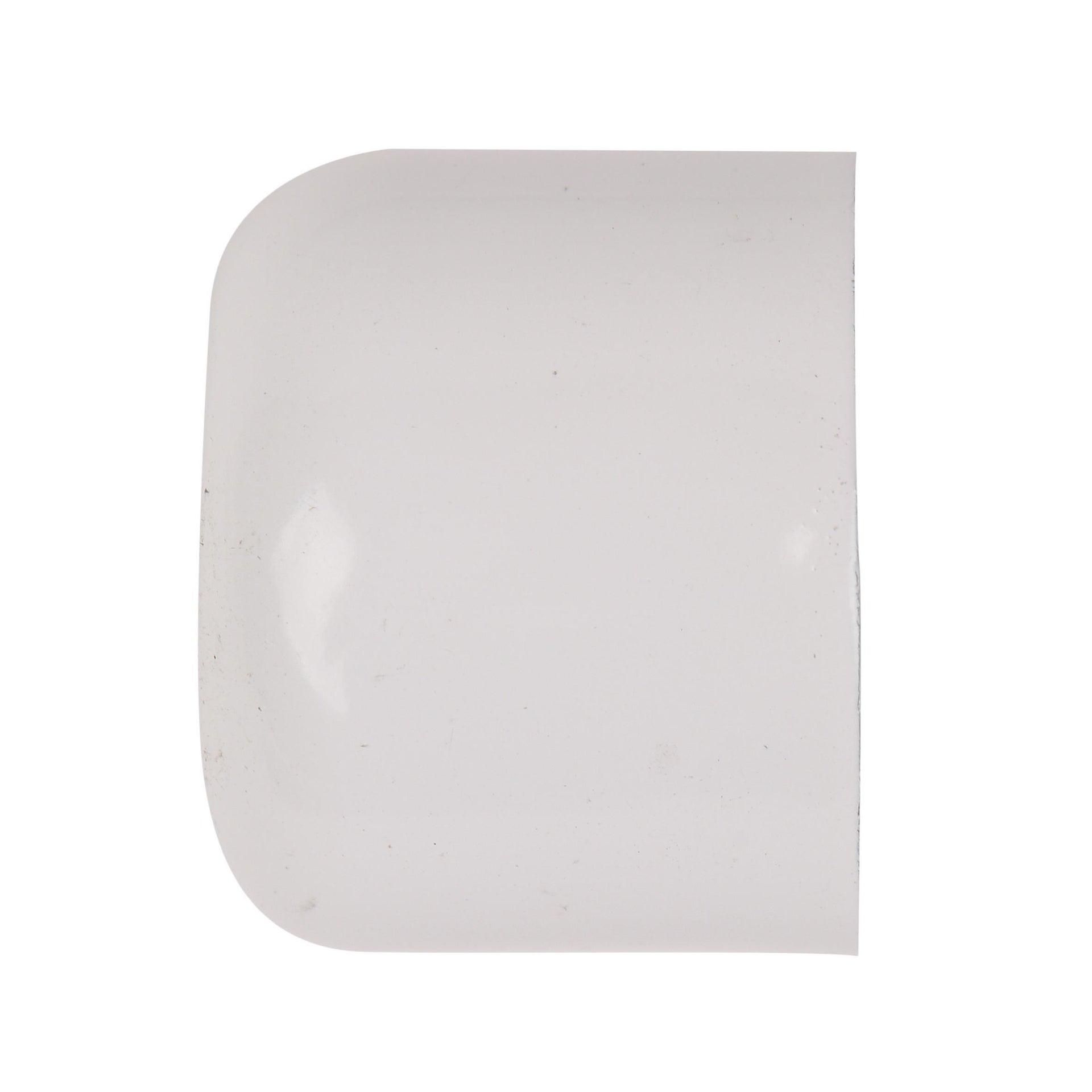 Finale per bastone Nilo tappo in metallo Ø20mm bianco lucido INSPIRE Set di 2 pezzi - 4