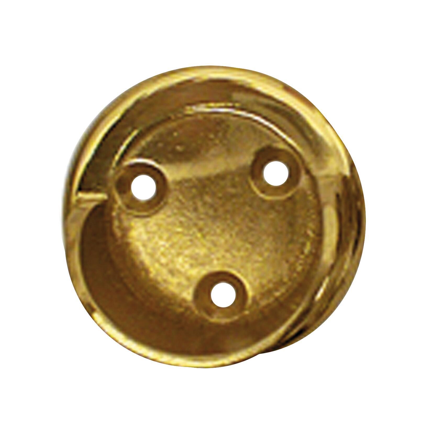 Supporto rosetta Ø28mm Lena in metallo ottone lucido 3cm