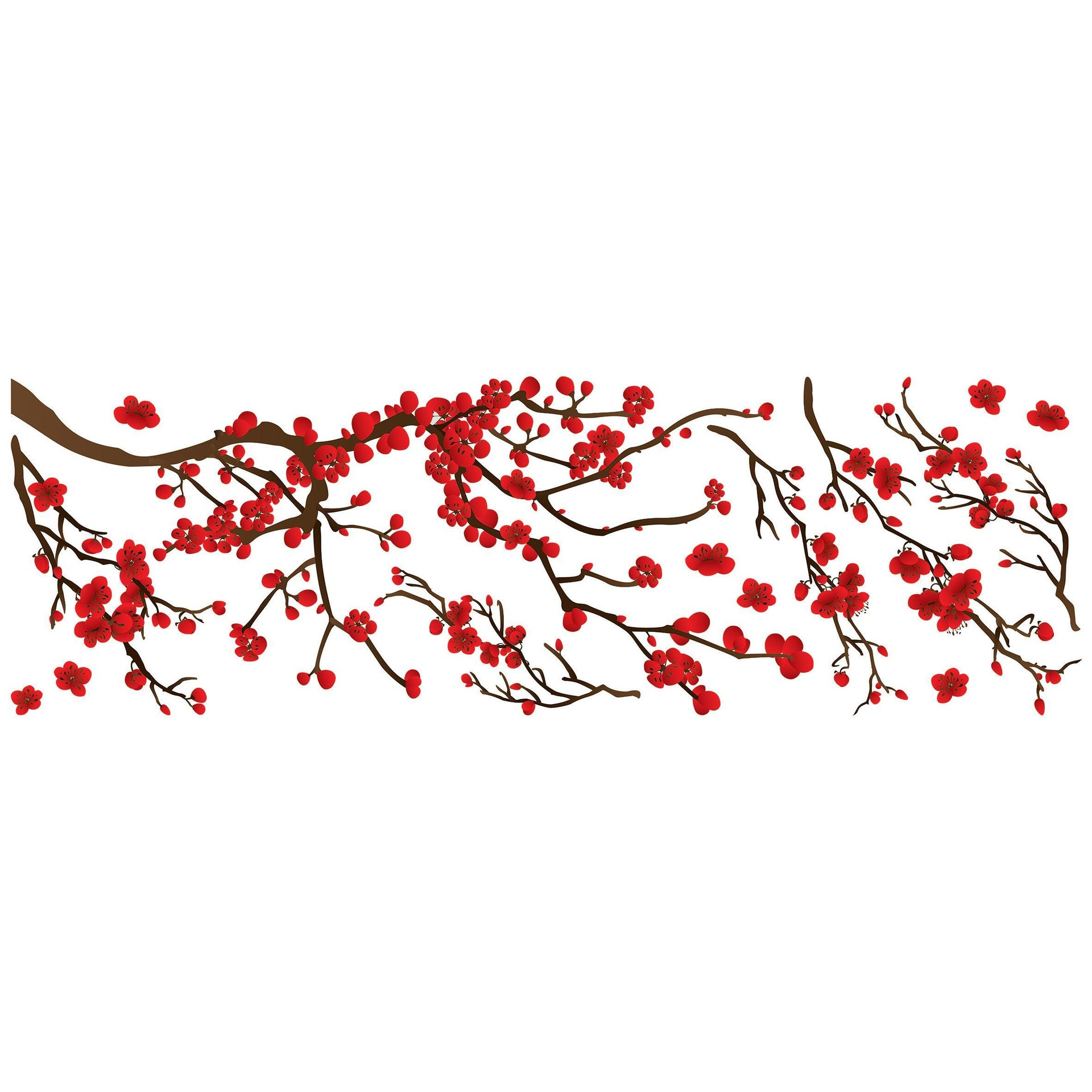 Sticker Red ramage 35x100 cm - 2