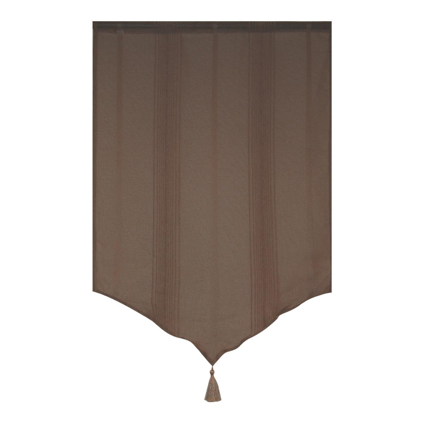 Tendina vetro Marrone mattone passanti nascosti 60 x 90 cm