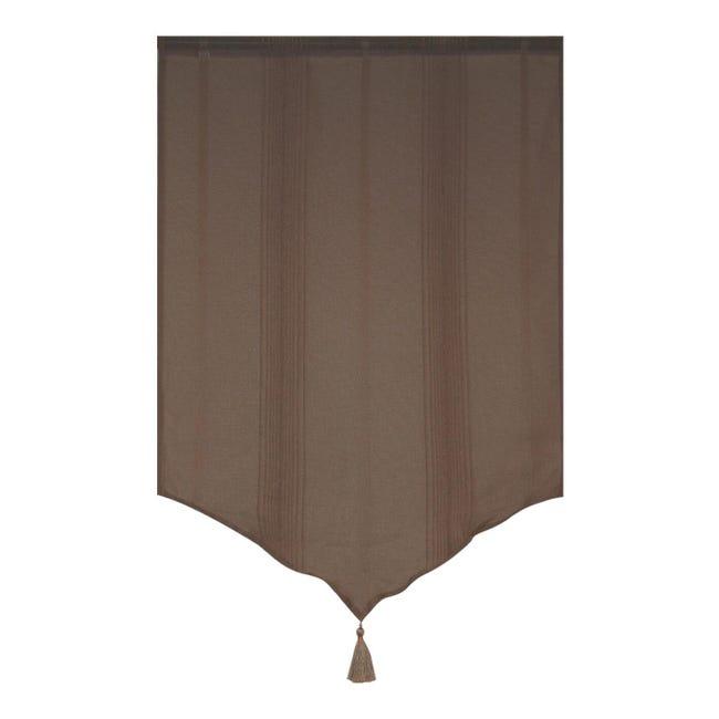 Tendina vetro Marrone mattone passanti nascosti 60 x 90 cm - 1