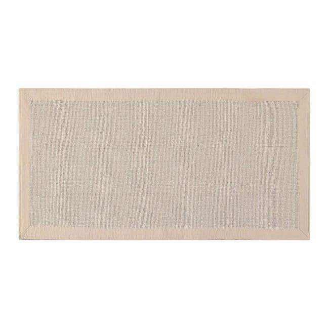Passatoia Nevra in cotone, avorio, 50x110 - 1