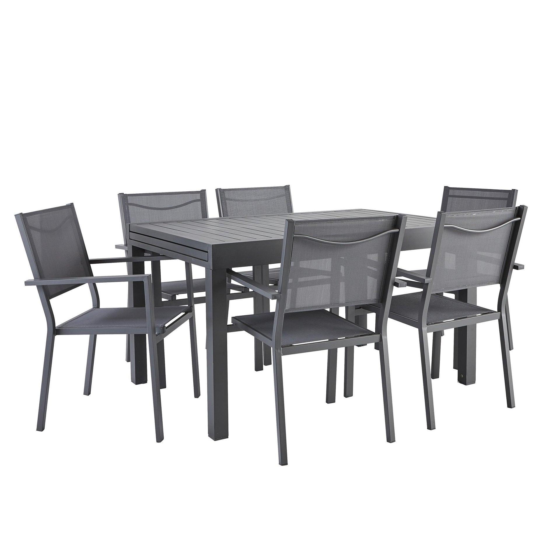 Tavolo da giardino allungabile rettangolare Lisbon con piano in alluminio L 135/270 x P 90 cm - 9