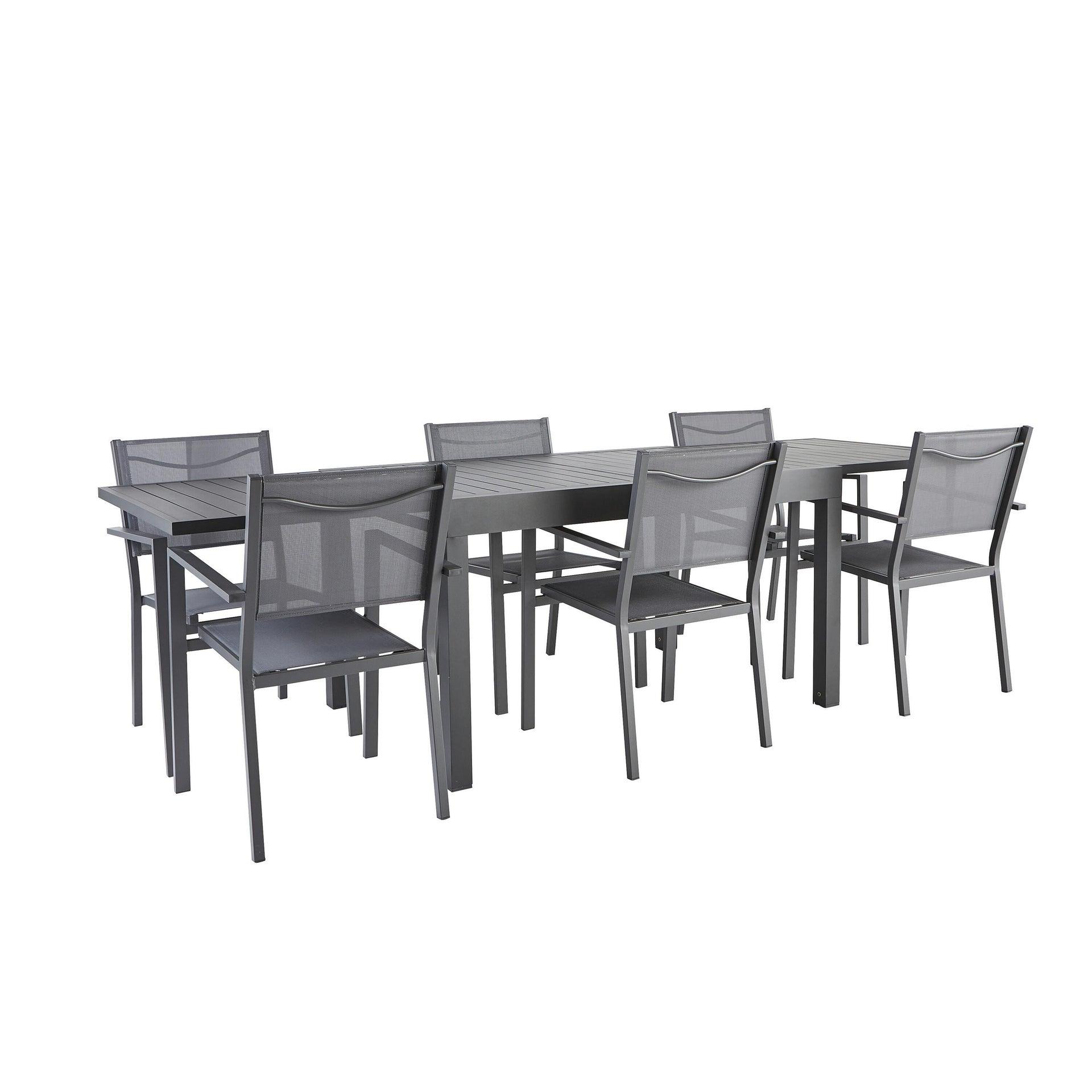 Tavolo da giardino allungabile rettangolare Lisbon con piano in alluminio L 135/270 x P 90 cm - 16