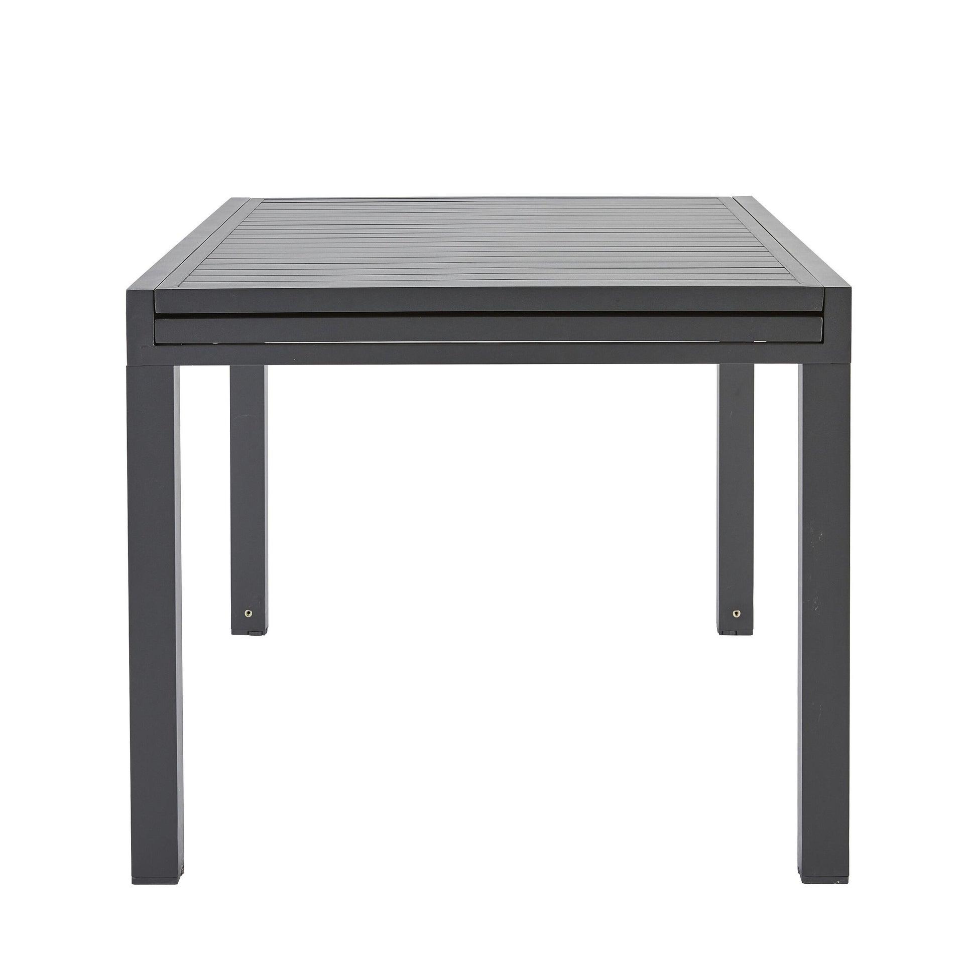 Tavolo da giardino allungabile rettangolare Lisbon con piano in alluminio L 135/270 x P 90 cm - 2