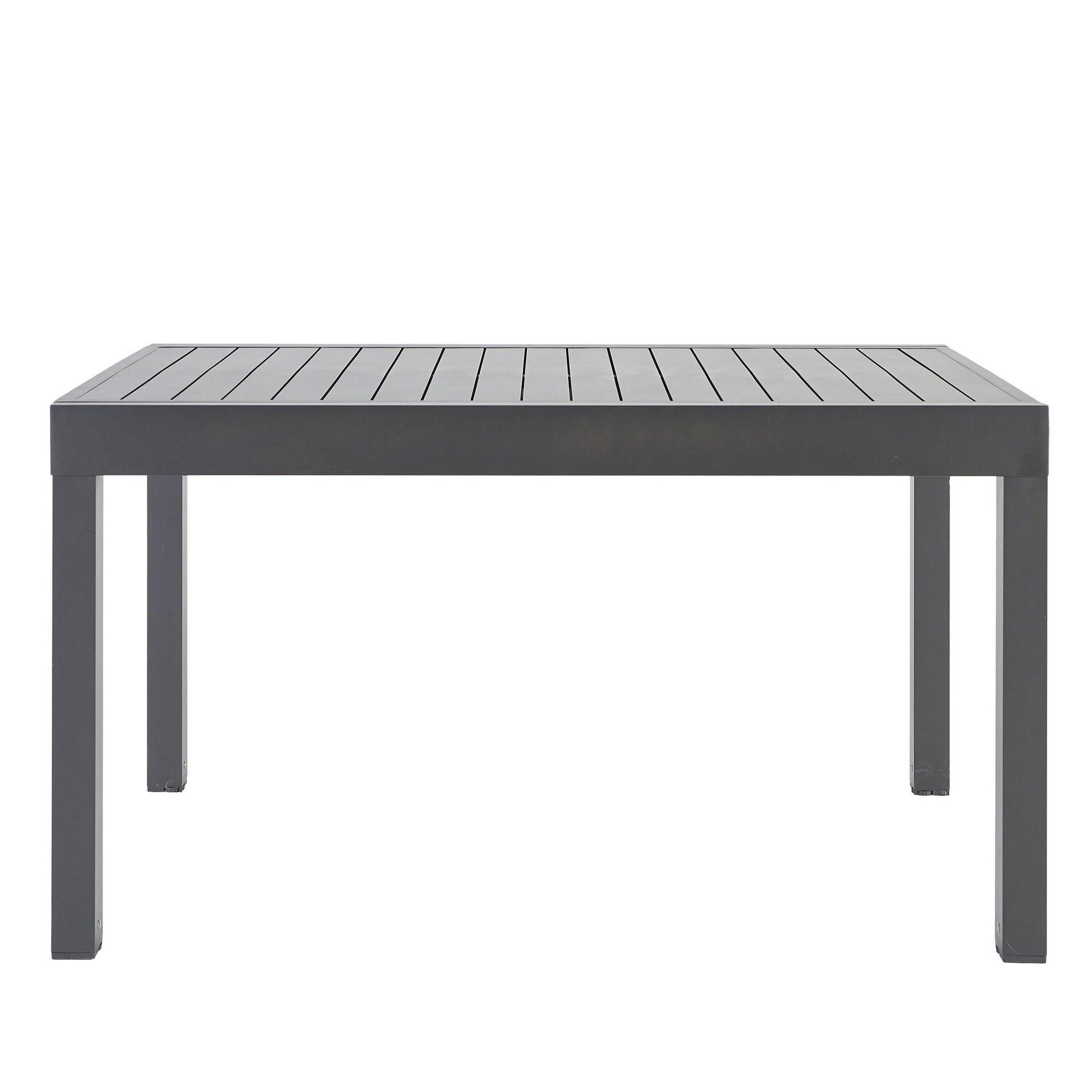 Tavolo da giardino allungabile rettangolare Lisbon con piano in alluminio L 135/270 x P 90 cm - 18