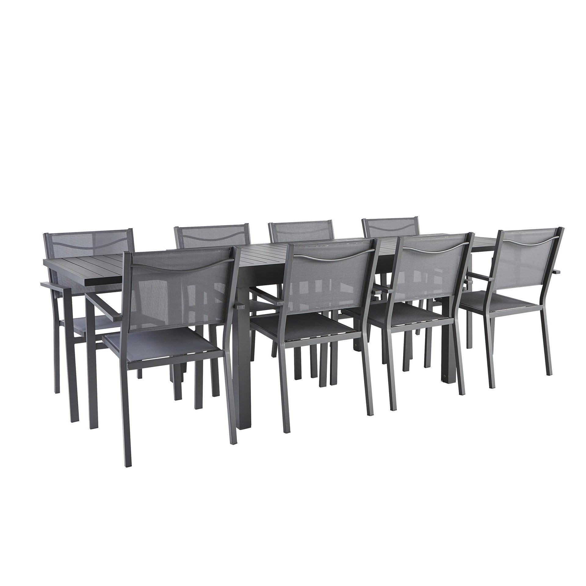 Tavolo da giardino allungabile rettangolare Lisbon con piano in alluminio L 135/270 x P 90 cm - 4