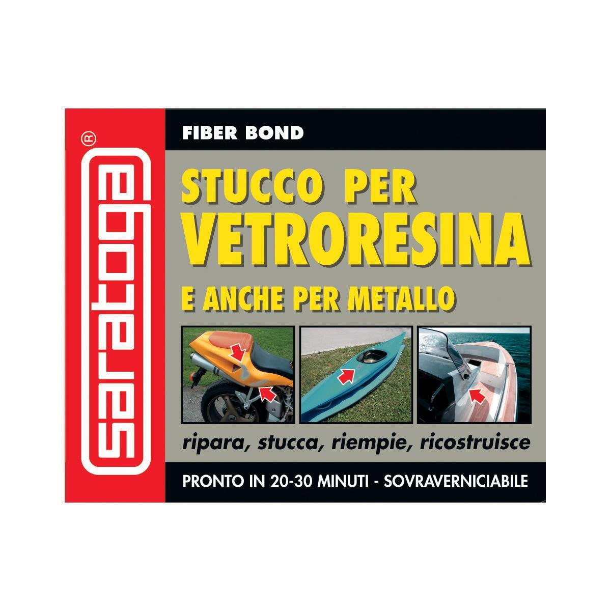 Stucco di riparazione plastica e vetroresina SARATOGA Fiber Bond 125 ml - 2