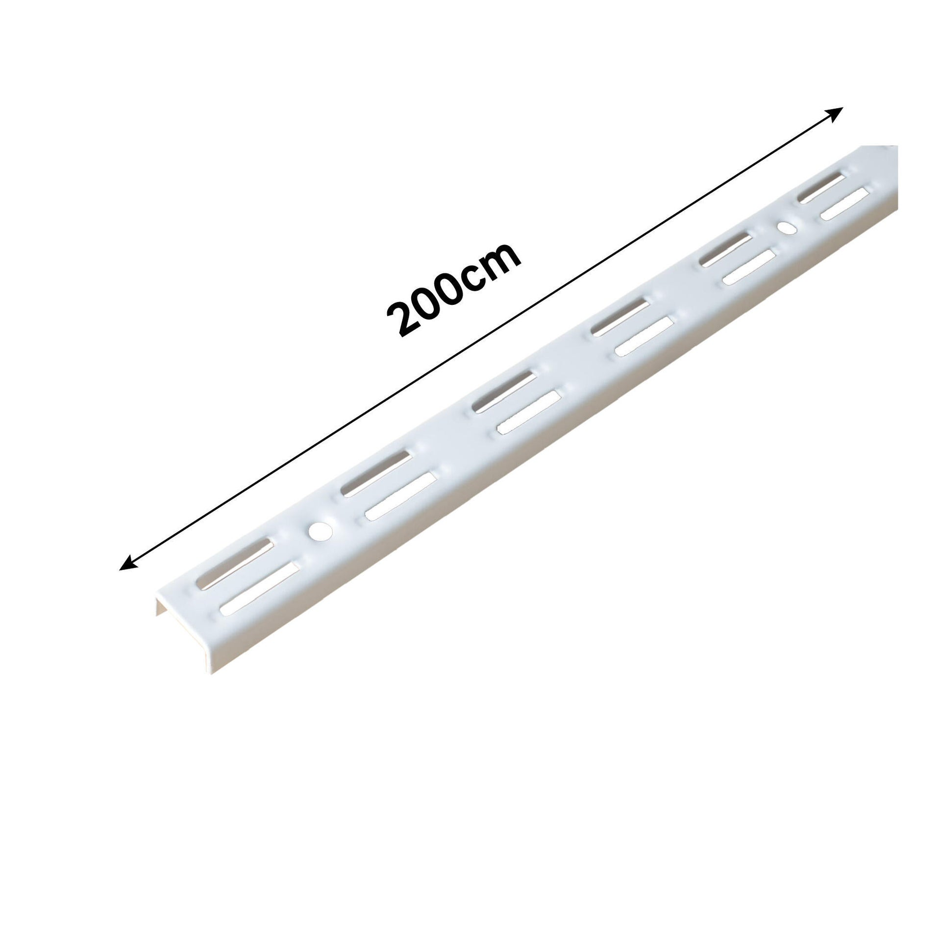 Cremagliera doppia Spaceo H 200 x L 0.25 cm, Sp 1.5 mm bianco - 35