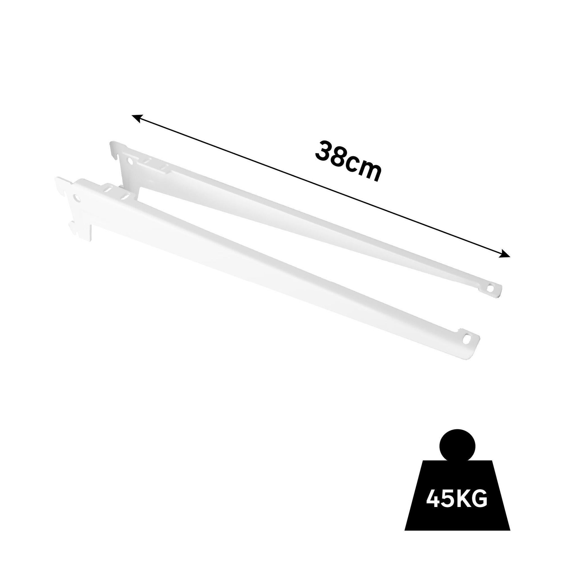Set di 2 pezzi, Reggimensola Spaceo L 39.0 x H 2.4 x P 8.0 cm bianco - 9