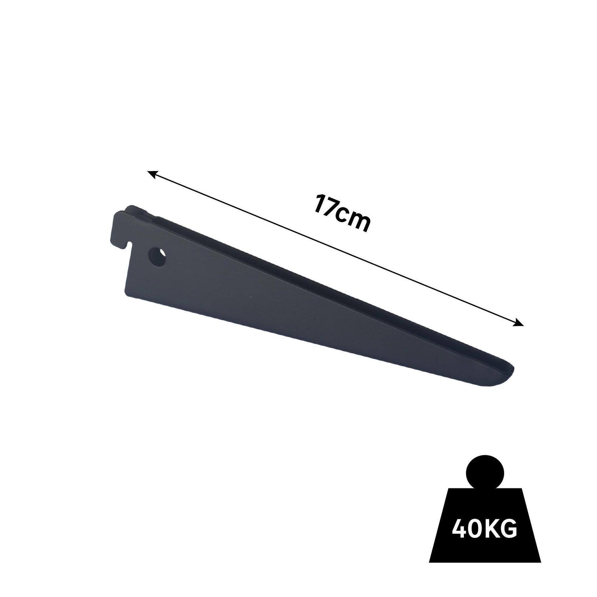 Supporto doppio per mensola Spaceo L 18.1 x H 1 x P 17 cm nero - 2