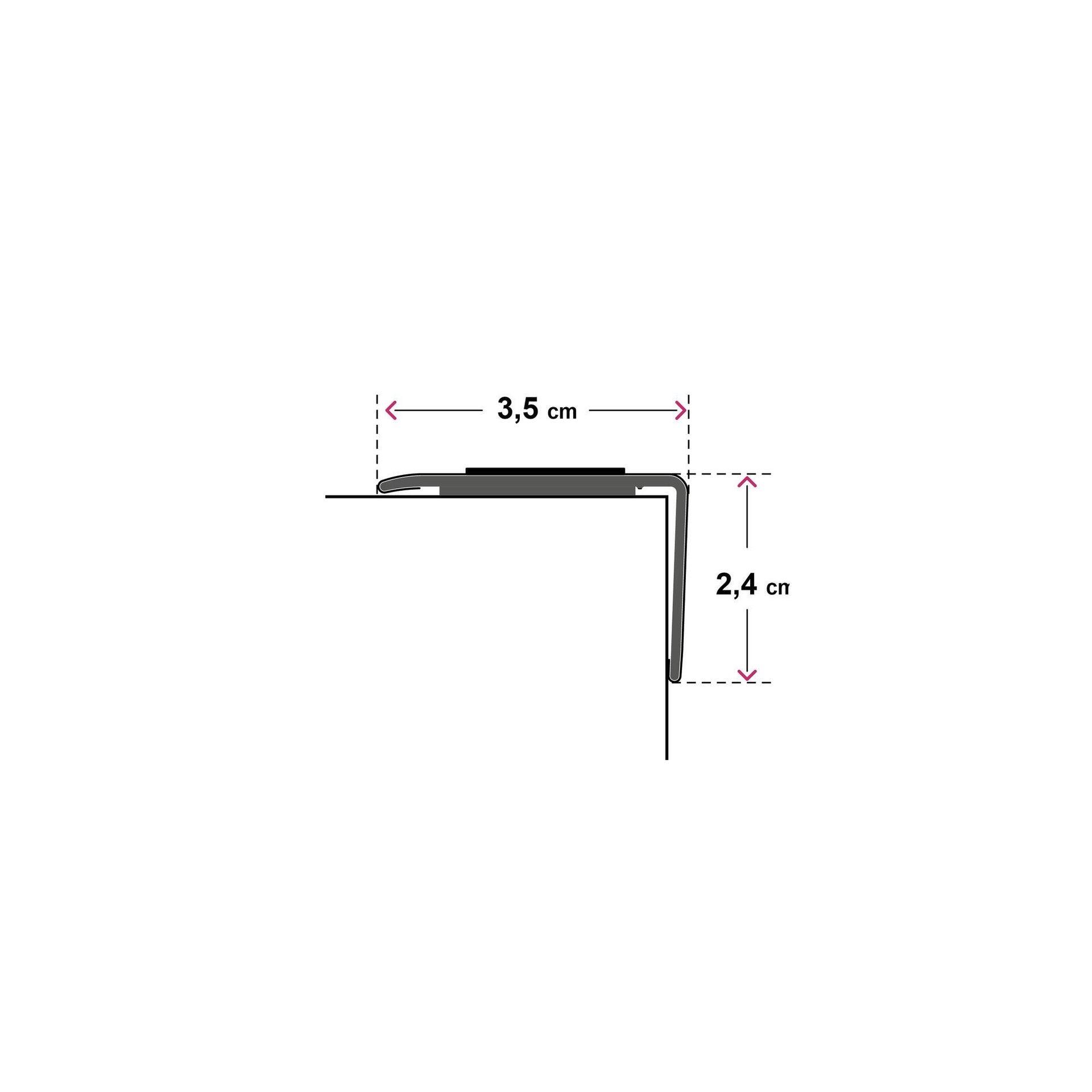 Profilo soglia simple-fix 38 36 mm x 95 cm - 6